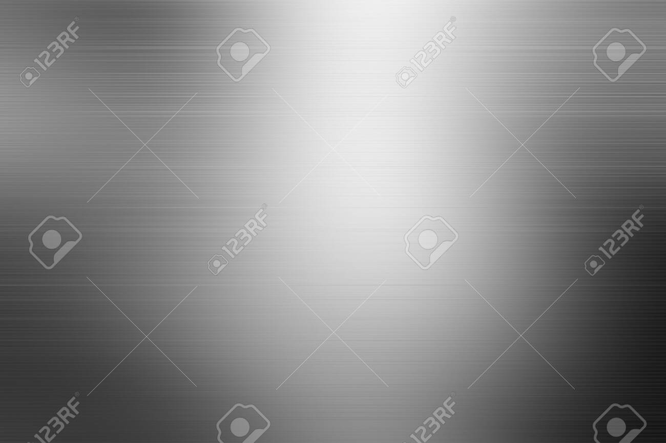 Brushed metal texture. Steel background. Silver foil texture background / steel texture black silver textured pattern background with reflections. - 133184189