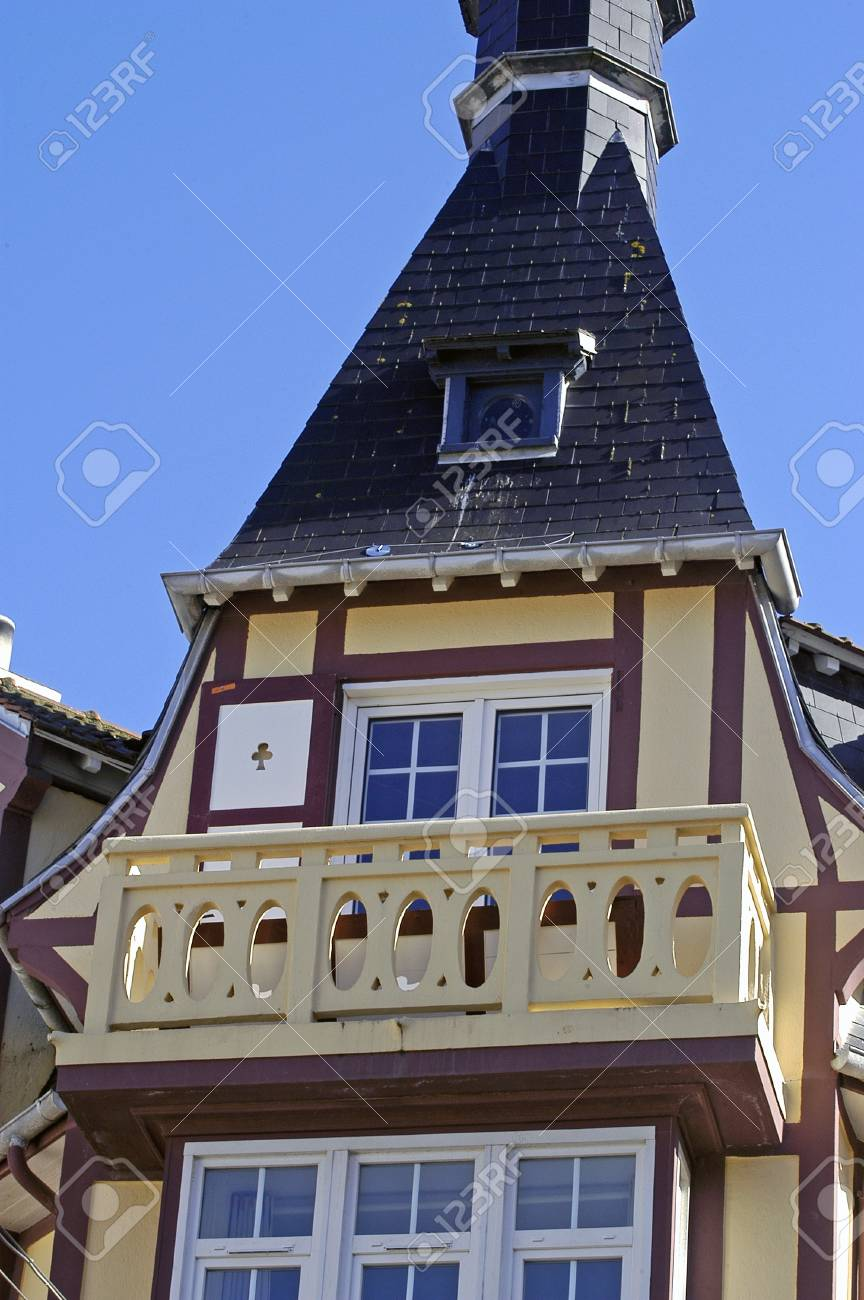 frontage of building of Touquet in the north of France Stock Photo - 17828582