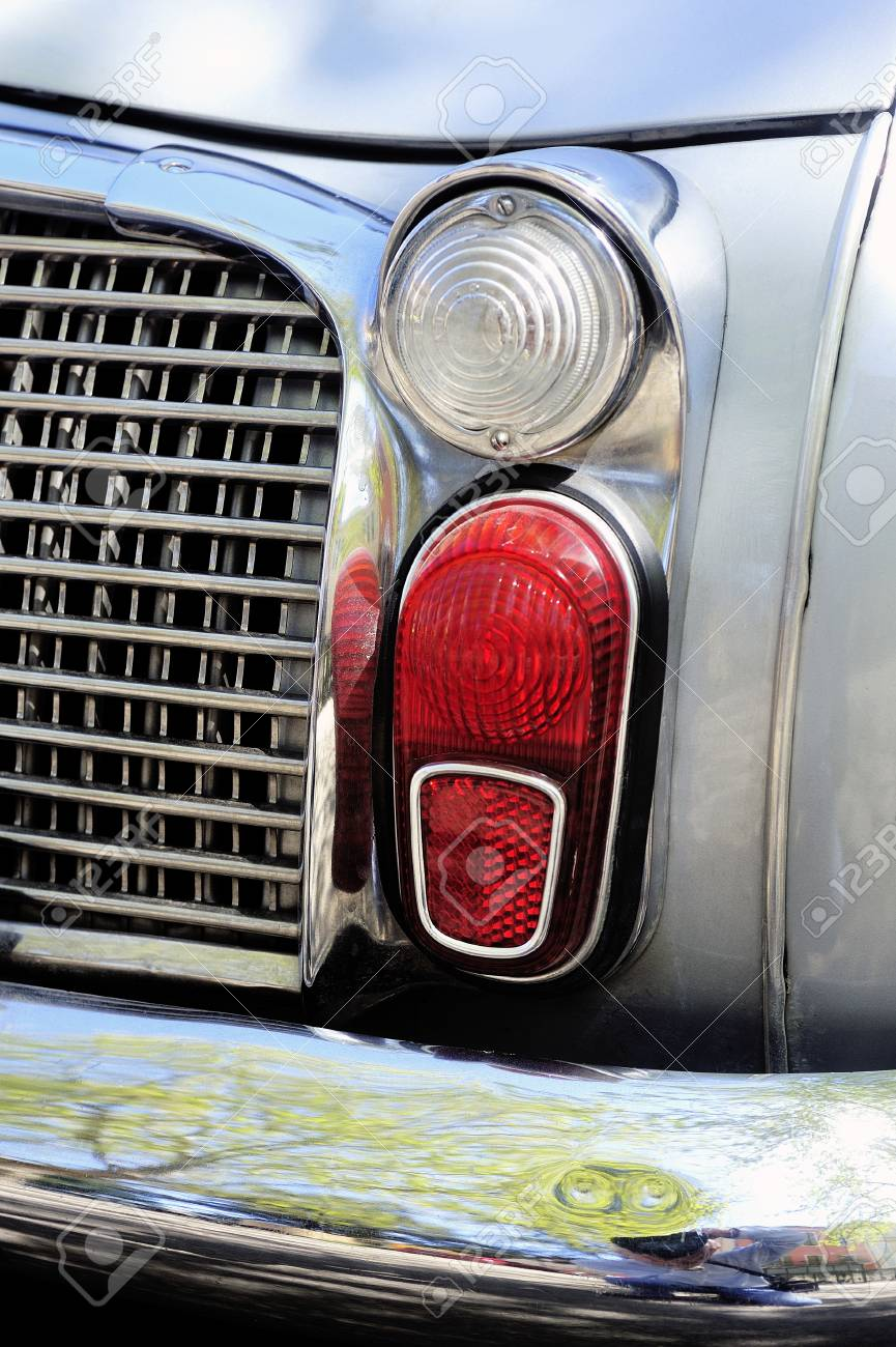 Detail Of Rear Light Of A Gray Renault Dauphine Gordini Photographed Stock Photo Picture And Royalty Free Image Image 43353835