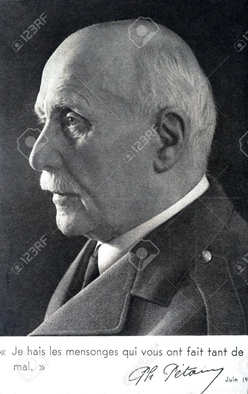 Retrato Del Mariscal Pétain Odio Las Mentiras Que Han Hecho Tanto