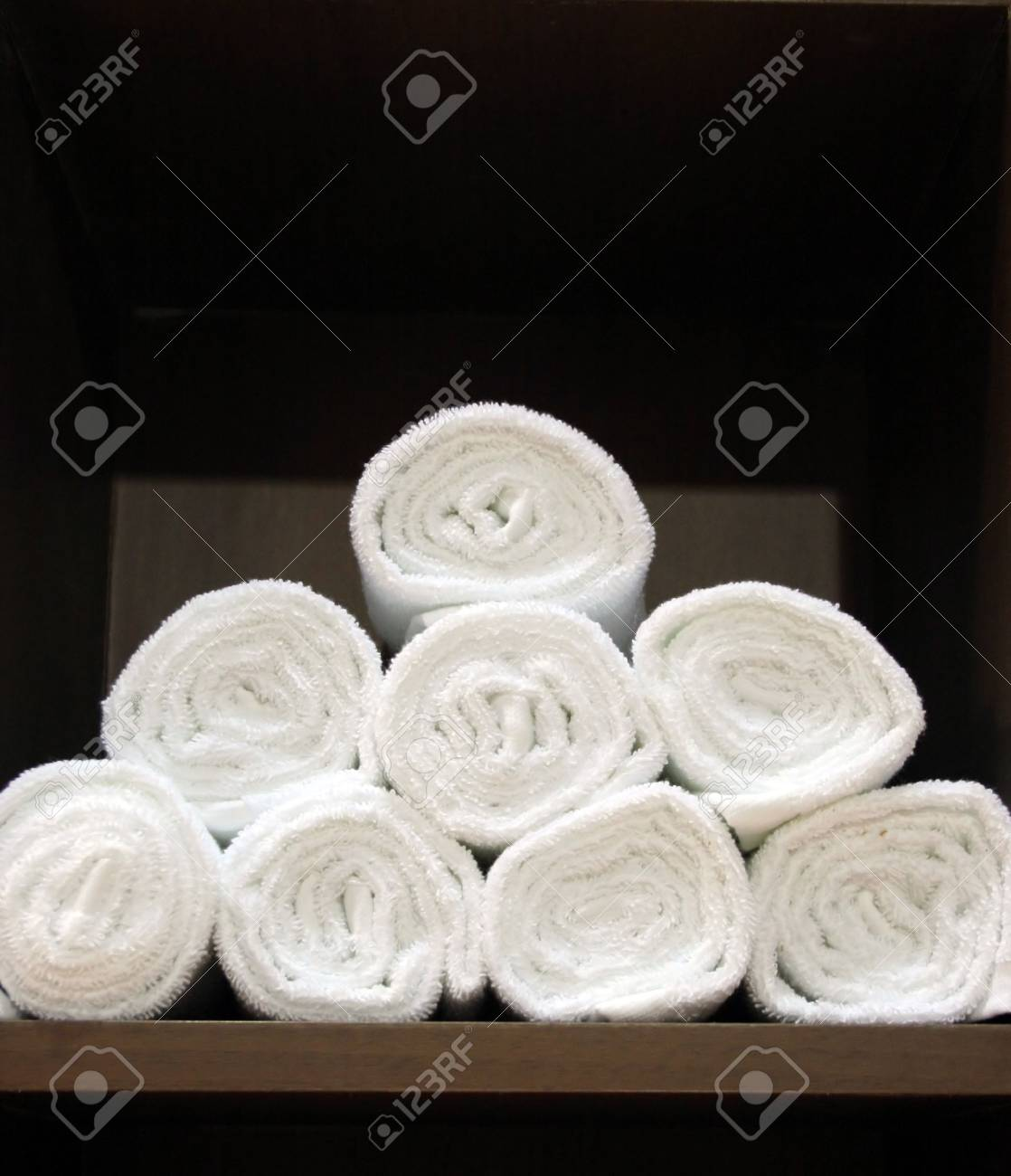 Pile of fluffy white towels Stock Photo - 327395