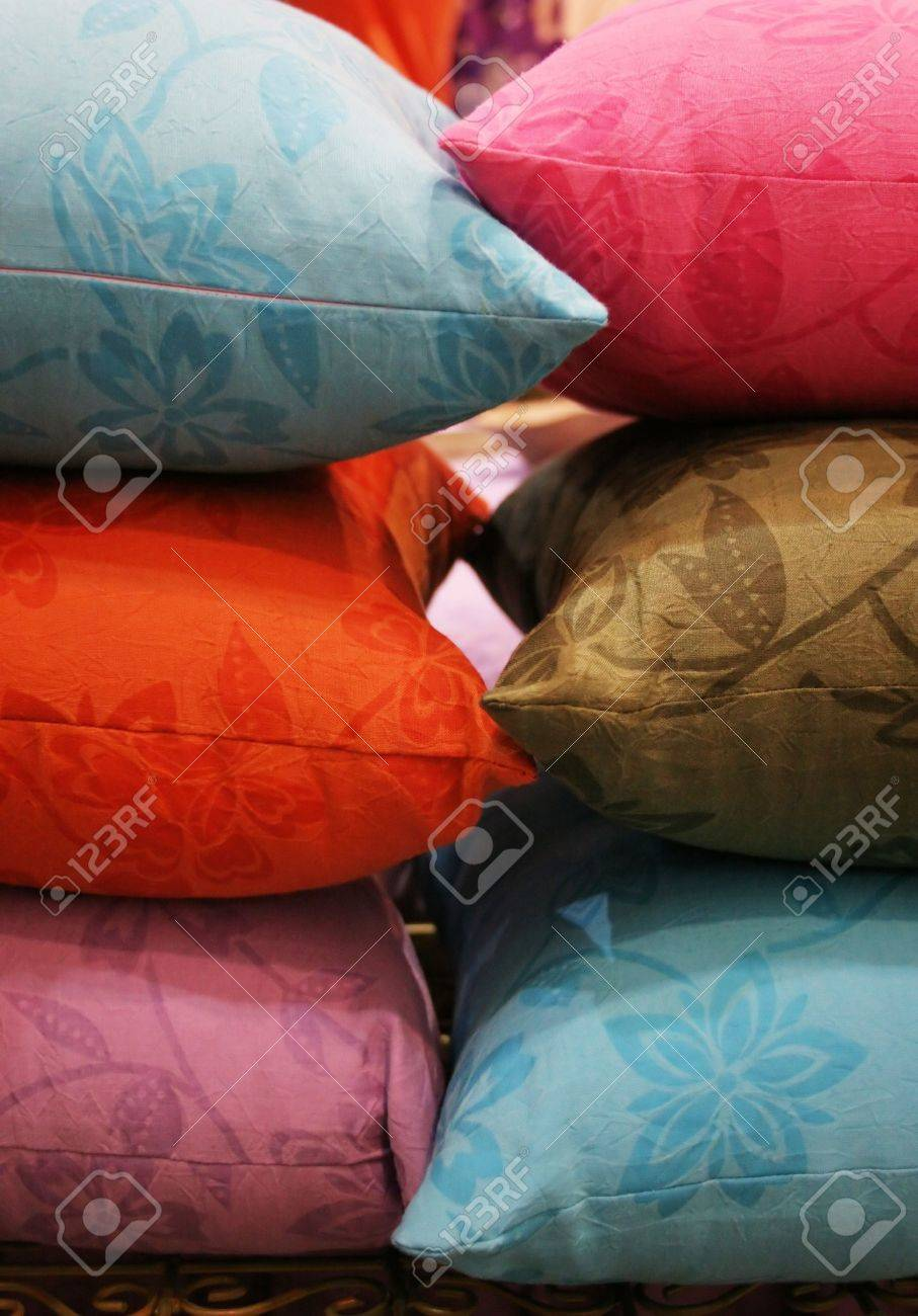 Pile of colorful pillows Stock Photo - 356658