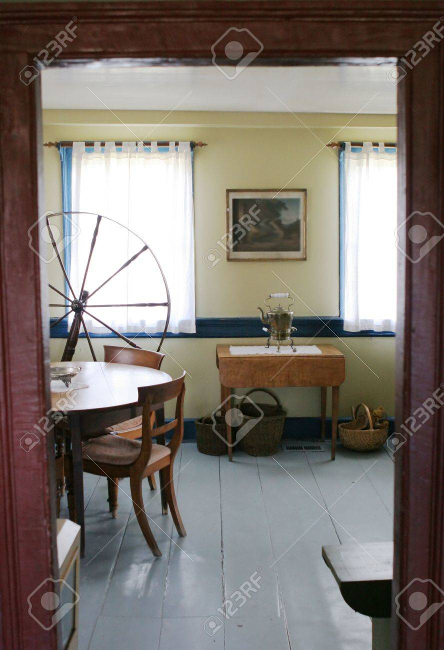 looking through the doorway into a room in an old fashioned house