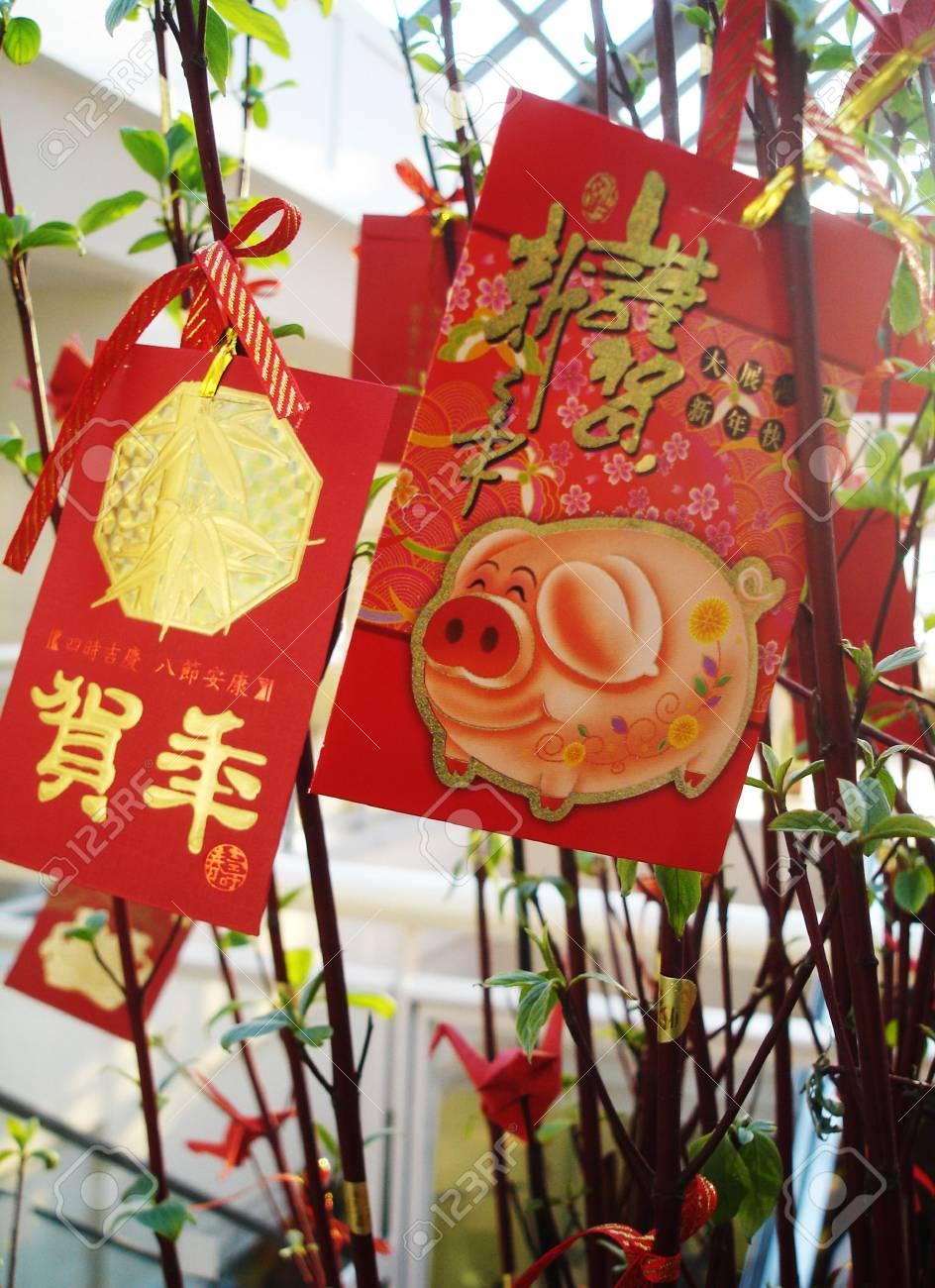 Gruß-Karten Für Das Jahr Des Schweins - Chinesisches Neujahr ...