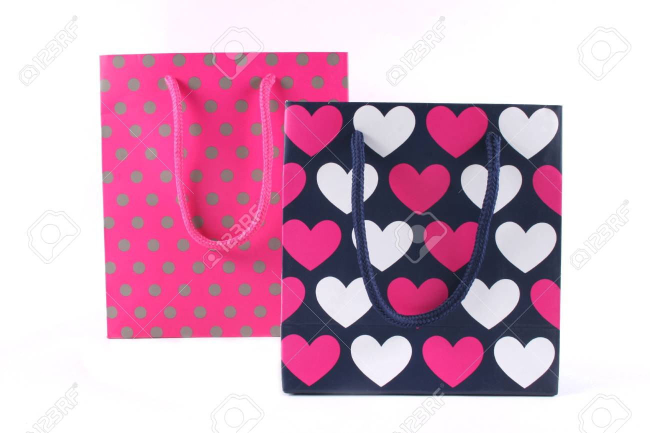 Gift bags for a birthday or other special occasion - isolated. Stock Photo - 875713