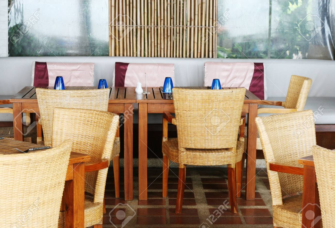 Modern restaurant table setting - Stock Photo Table Setting In A Modern Restaurant