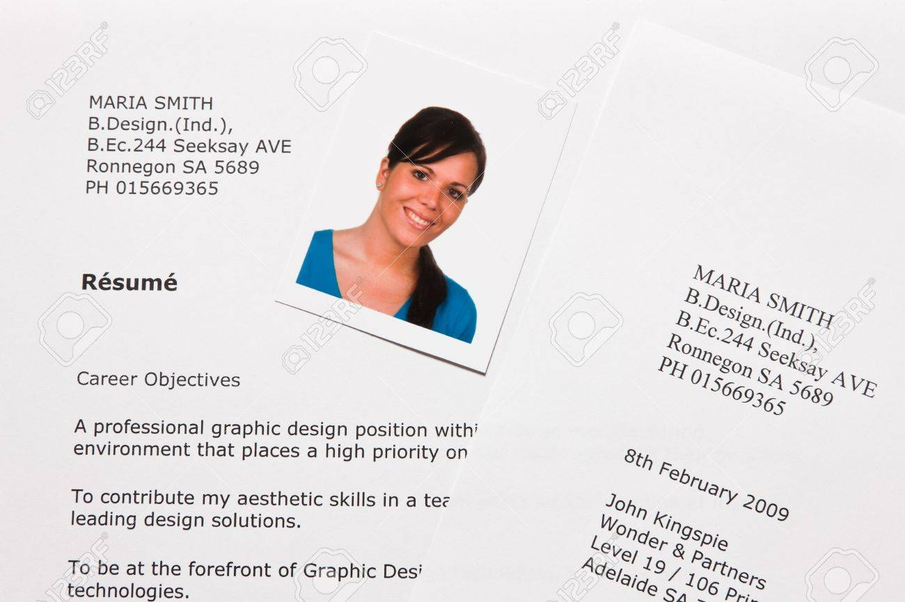 Application And CV In English Stock Photo   4318905