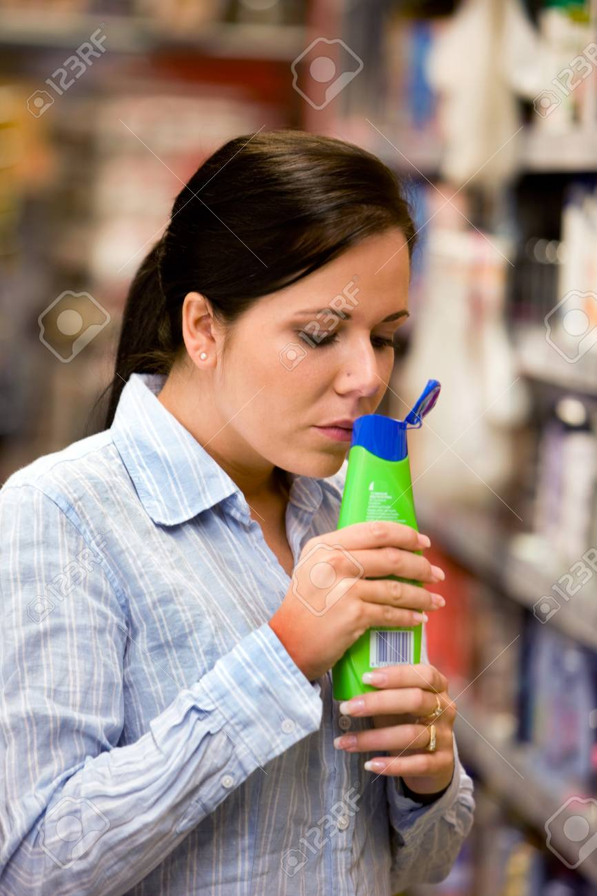 Young woman in a drugstore at shopping Stock Photo - 4413035