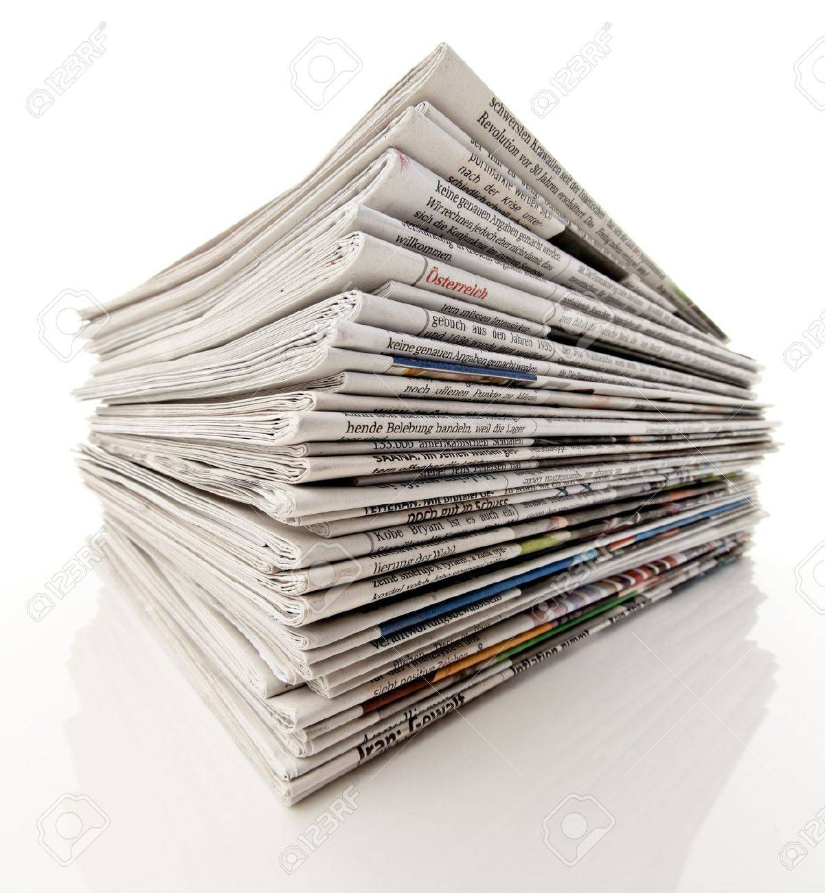 Old Newspapers And Magazines In A Pile Stock Photo, Picture And ...