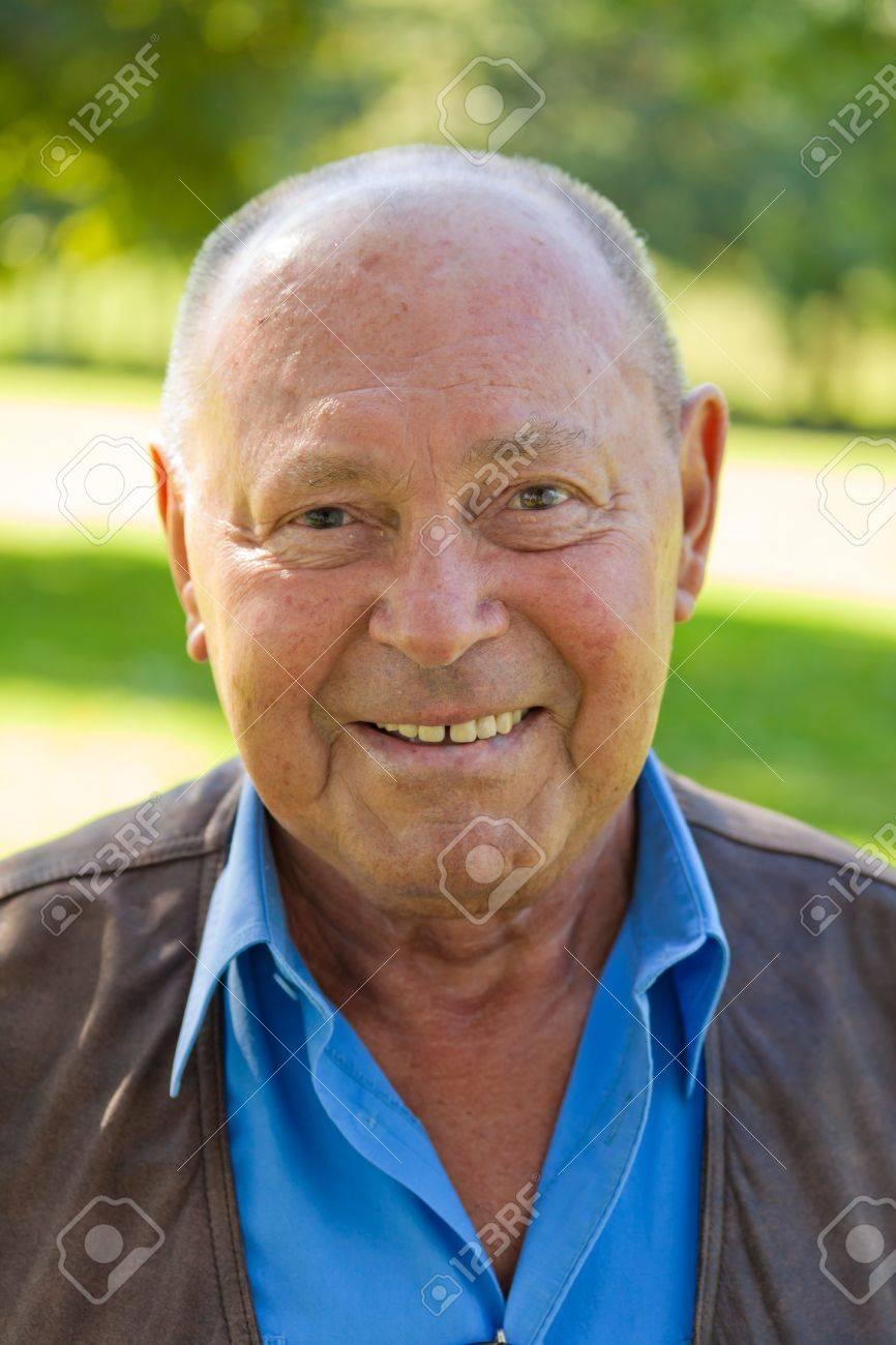 Portrait of an elderly man. Portrait of Seniors outdoors Stock Photo - 7856863