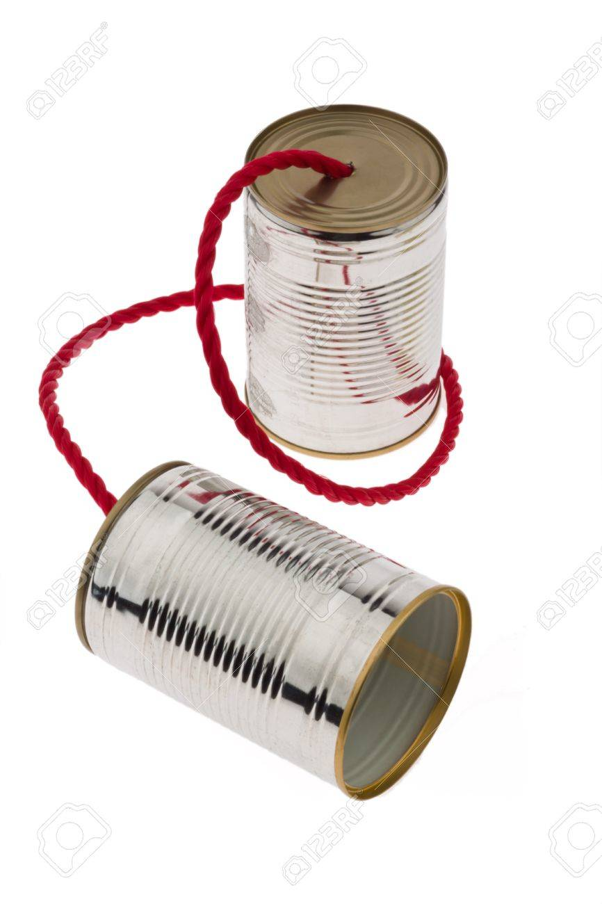 Two tin cans with string as a symbol fKommunikation photo. Stock Photo - 8231976