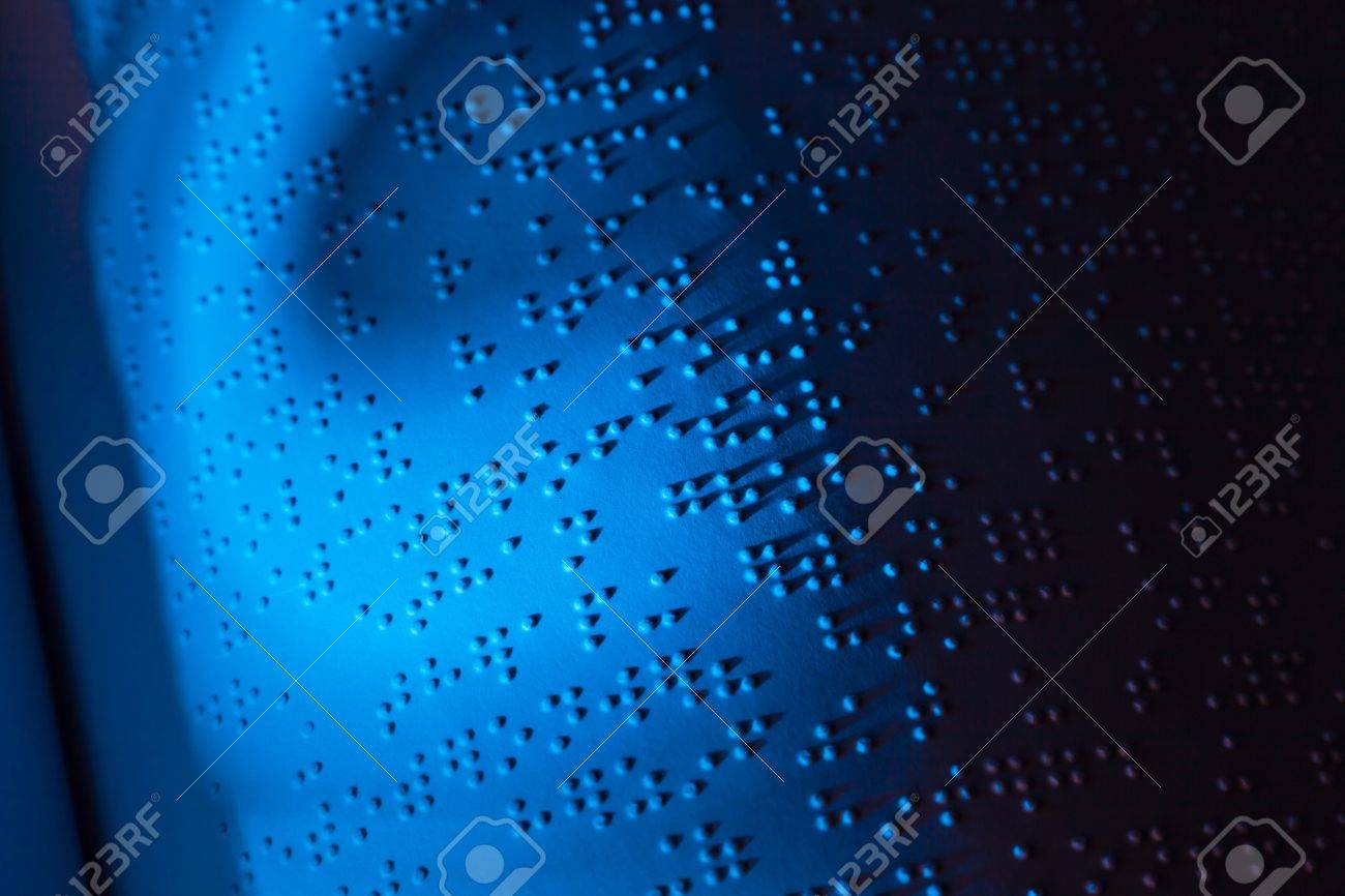 A book written in Braille. Braille for the blind. Stock Photo - 8705797