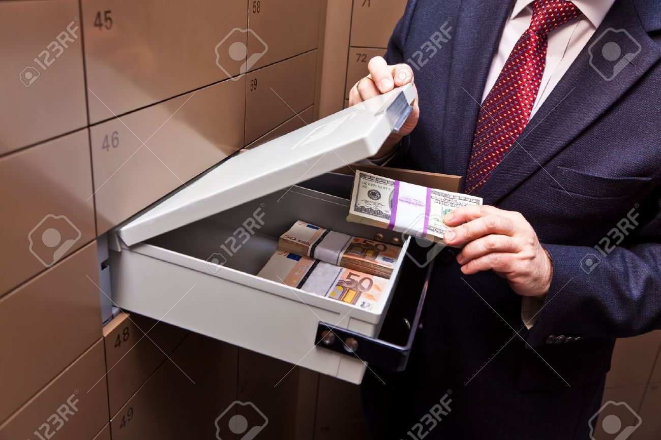 A locker in a bank vault. Storage of cash and documents. Stock Photo - 8910692