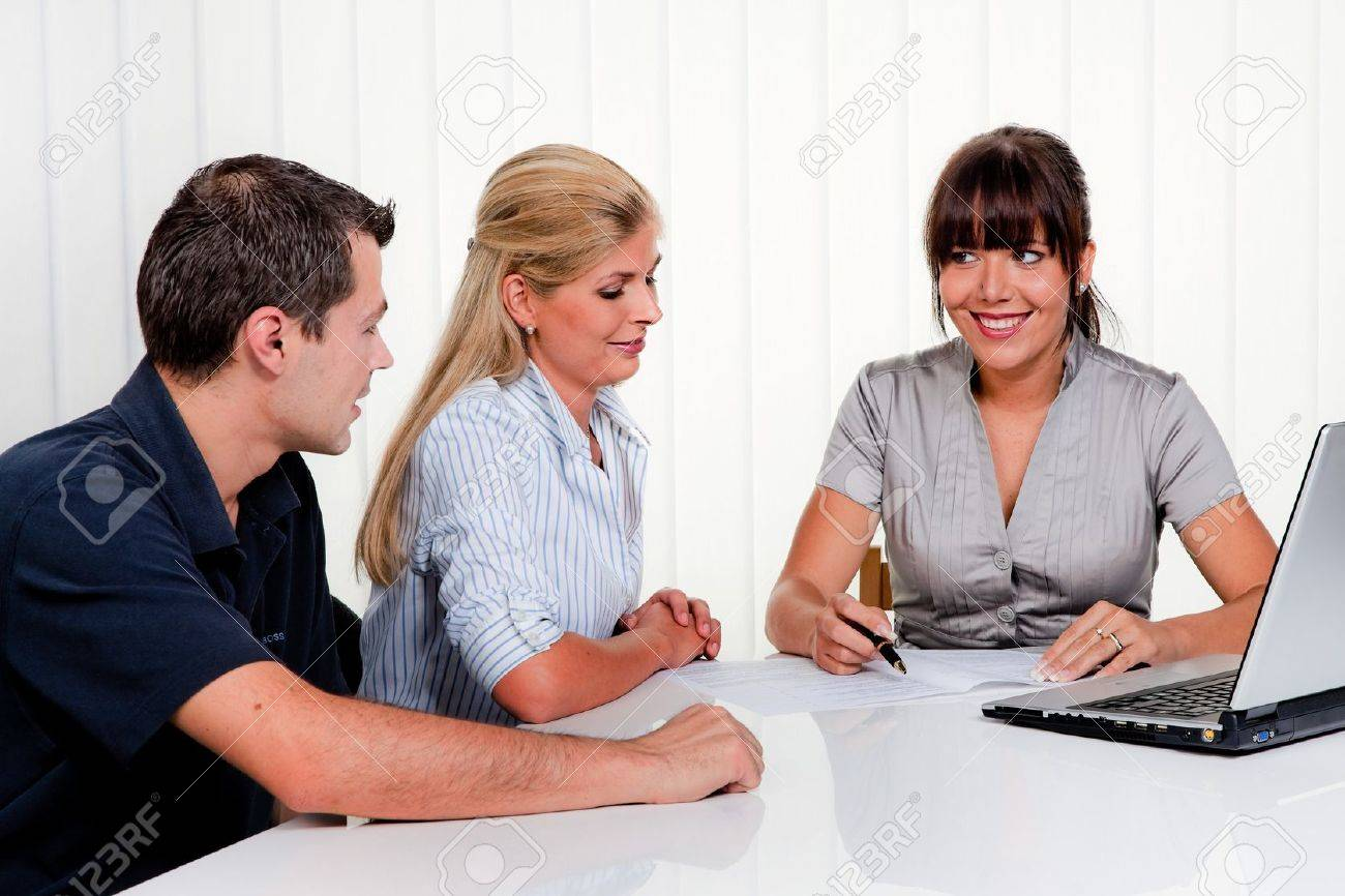 Husband and wife in a consultation kin office Stock Photo - 9445505