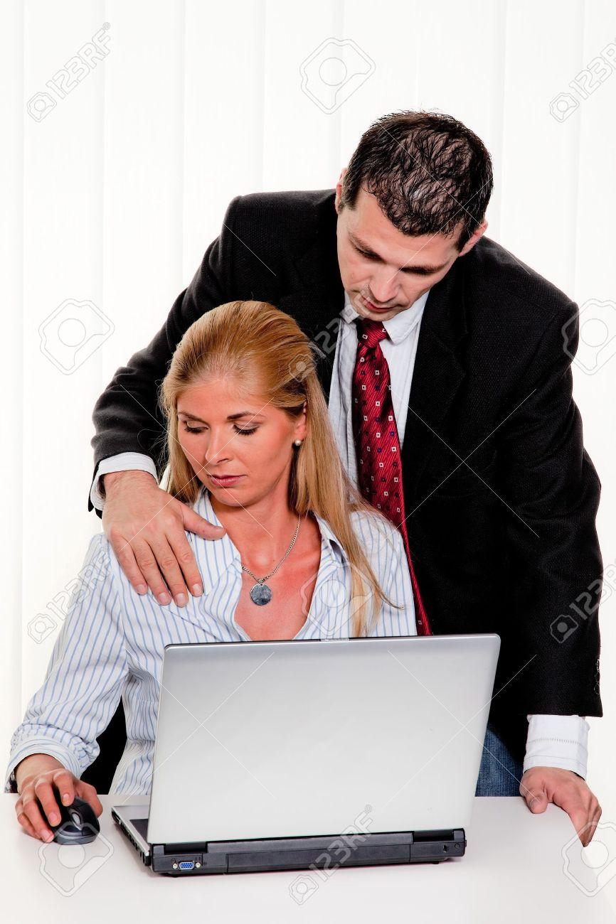 Acoso Sexual De Las Mujeres En El Trabajo En La Oficina Fotos ...
