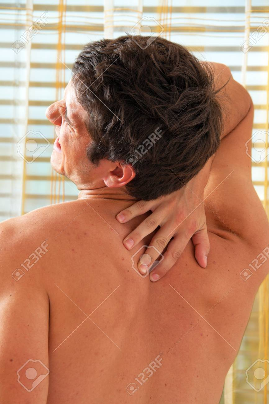 Sickness caused by pain in the back. Intervertebral disc and spinal column. Stock Photo - 9637757