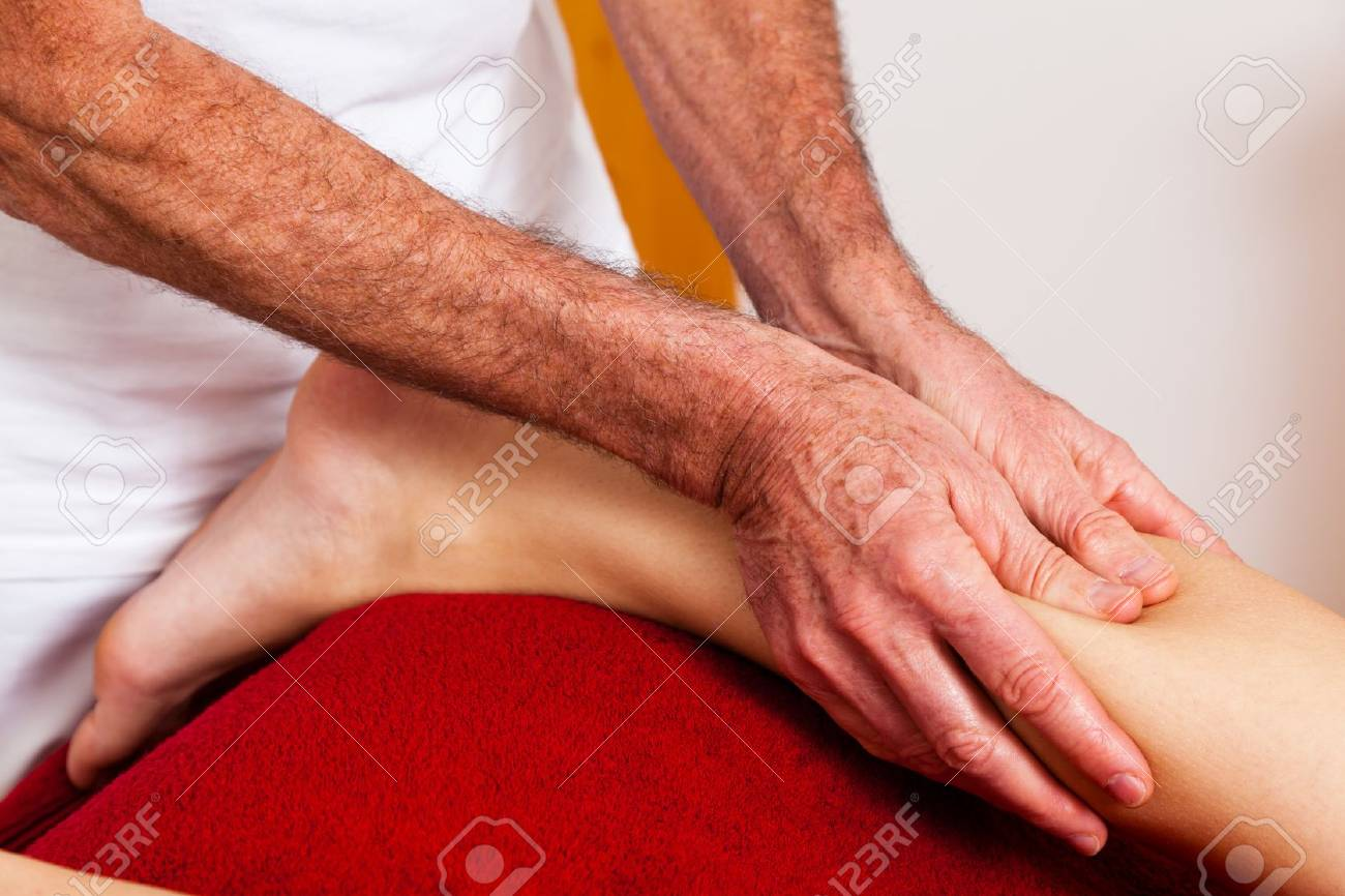 Relaxation, peace and well-being through massage. Lymphatic drainage Stock Photo - 9751591