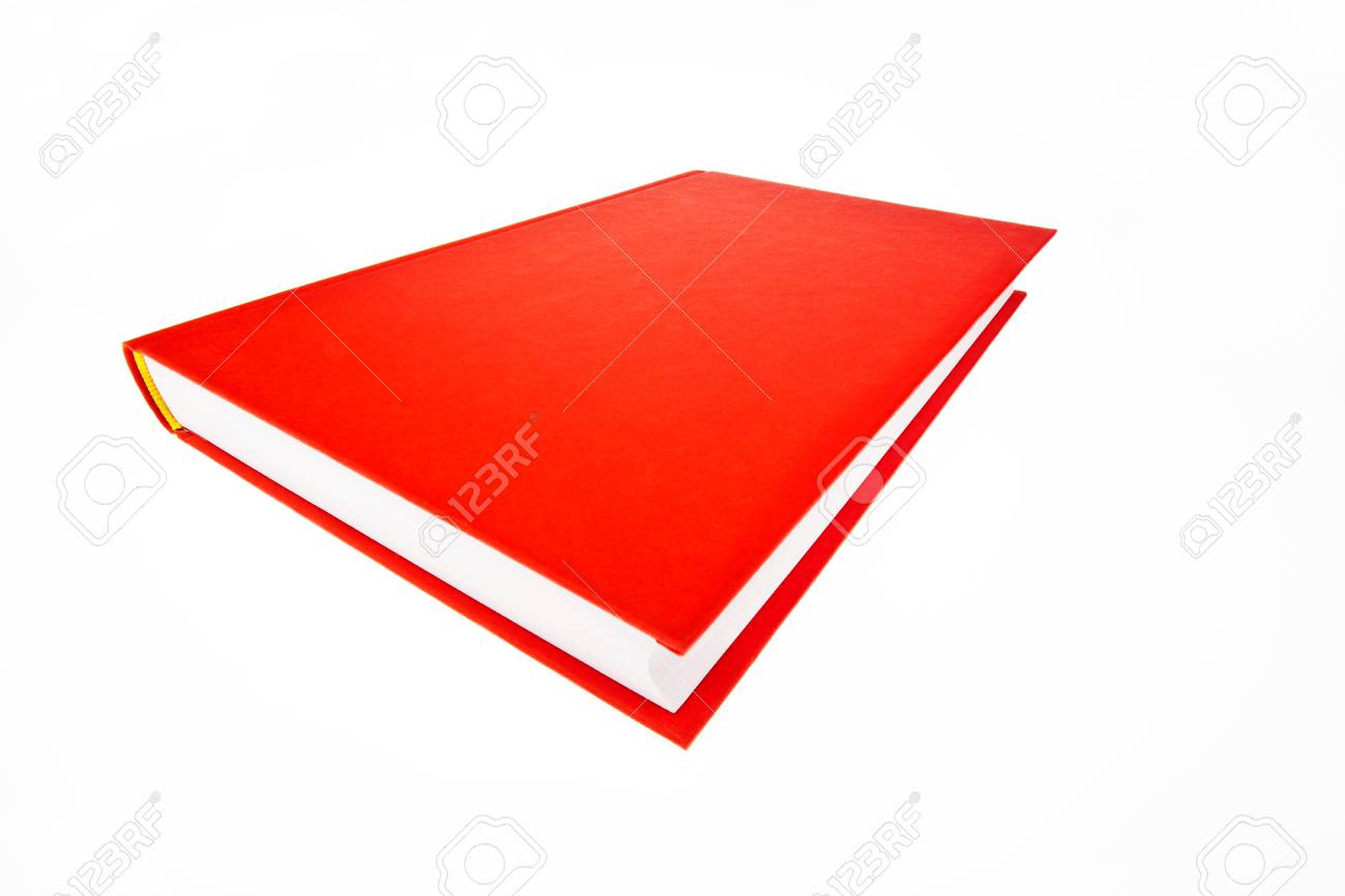 A book lies in a red cover on a white background Stock Photo - 10537244