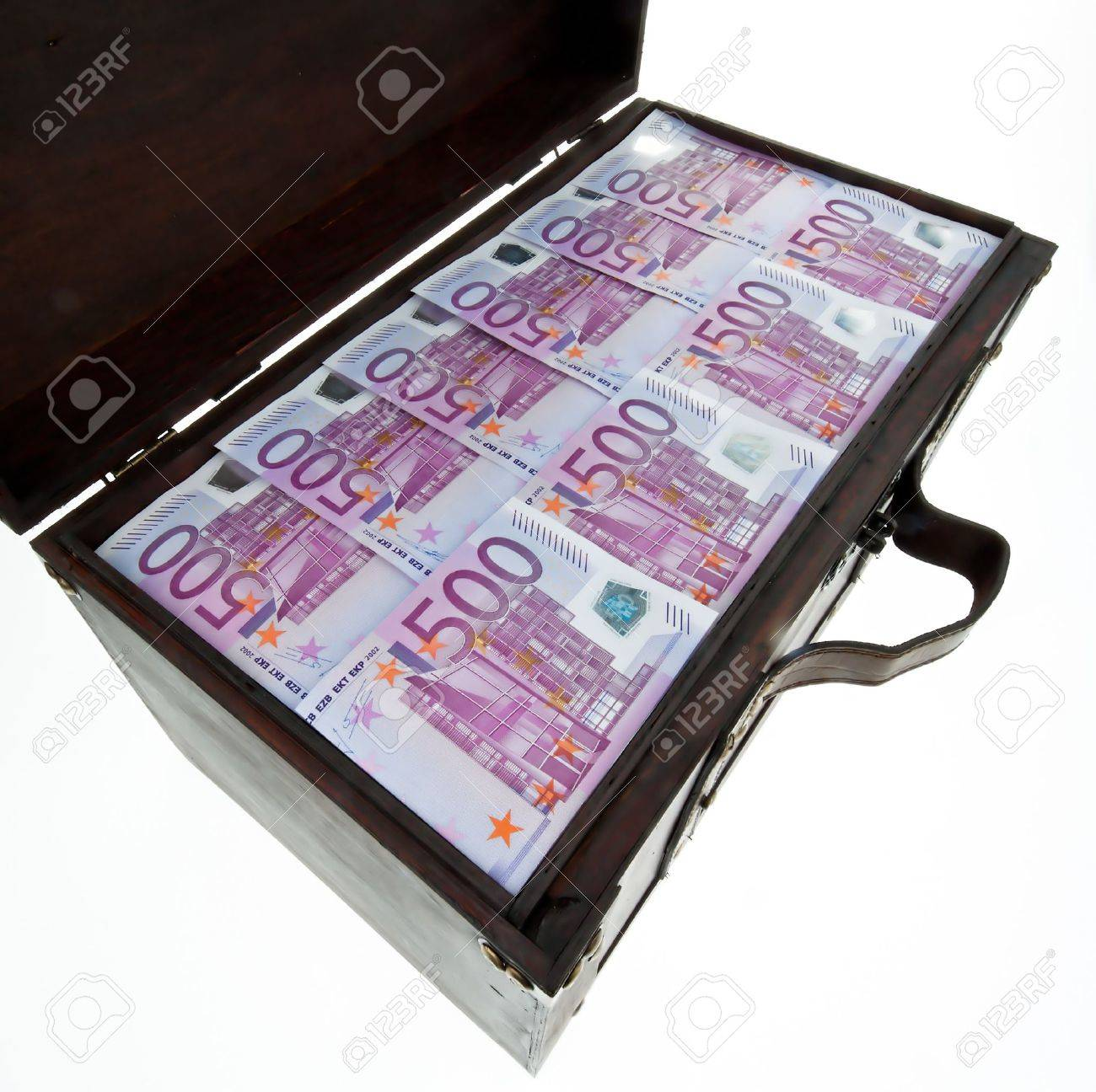 a large chest with euro banknotes. financial crisis, crisis, debt. Stock Photo - 11102846