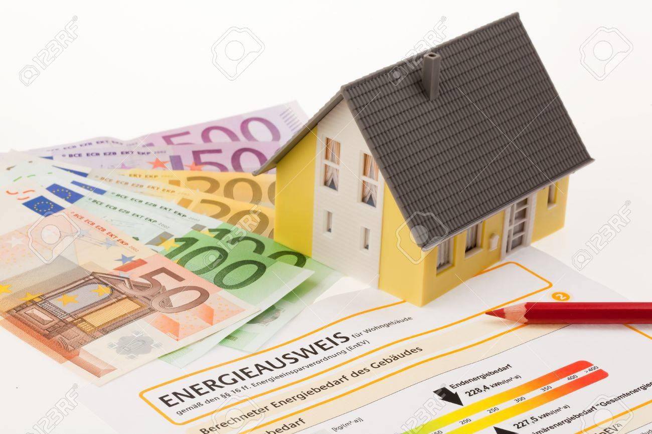 certification for single family, austria. with cutbacks and model house Stock Photo - 11101053