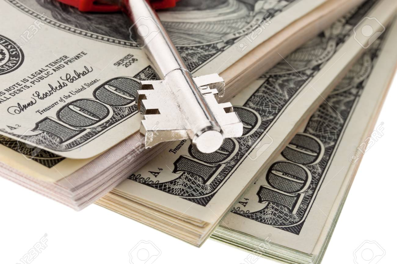 many dollar bills are in each stack Stock Photo - 11854519