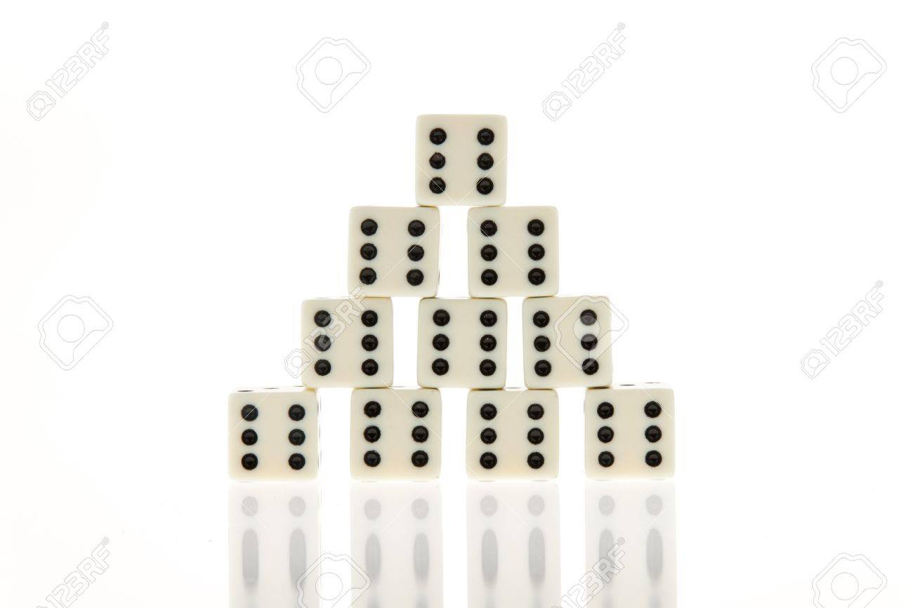 many die of a game  six  happiness and success in the game Stock Photo - 13143214