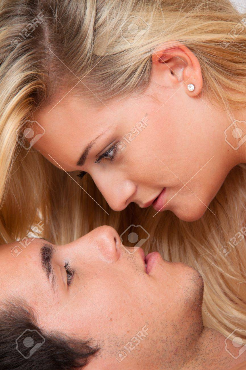couple in bed during sex and affection  love and eroticism in the bedroom Stock Photo - 13599267