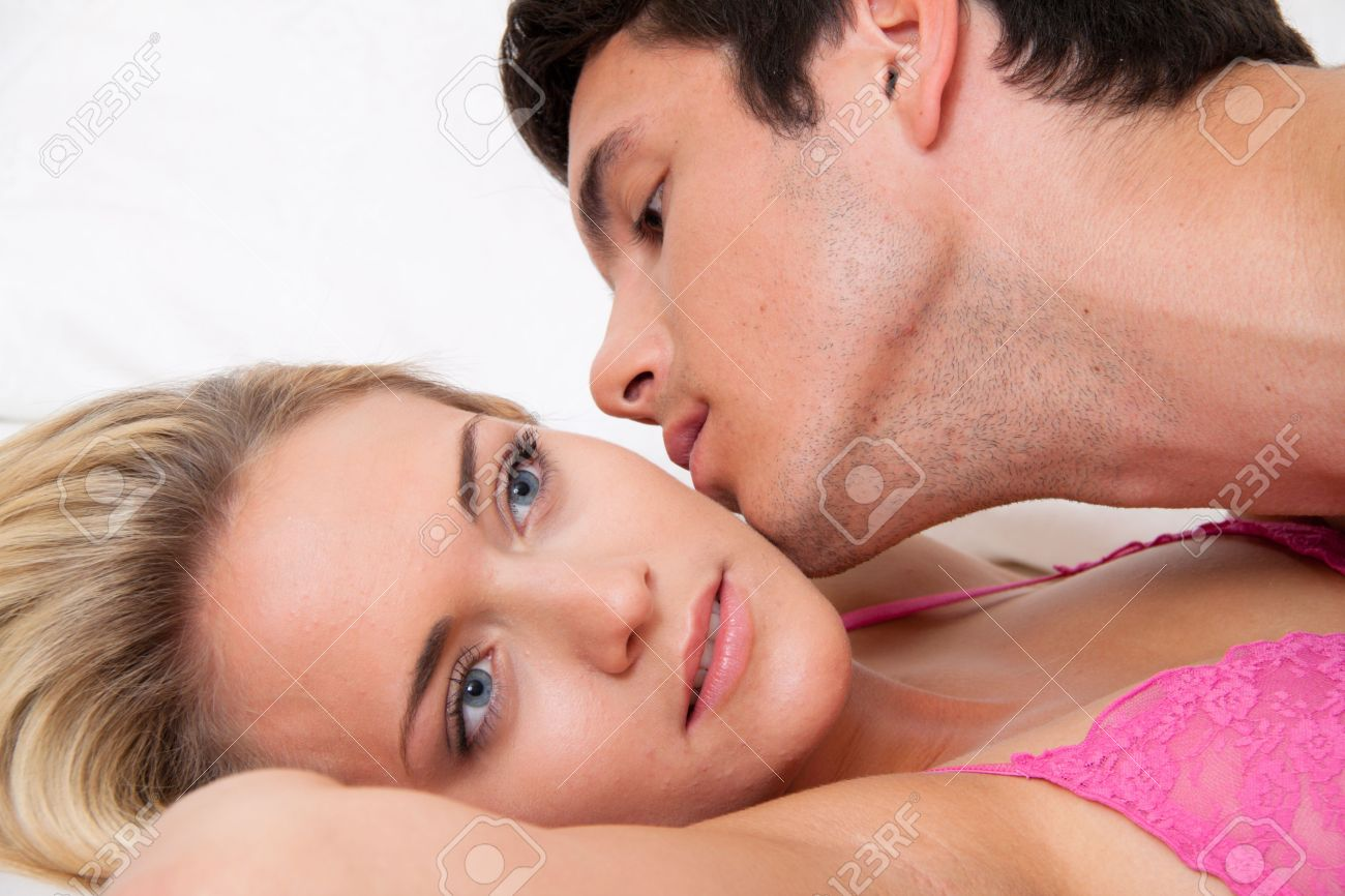 couple in bed during sex and affection  love and eroticism in the bedroom Stock Photo - 13599248