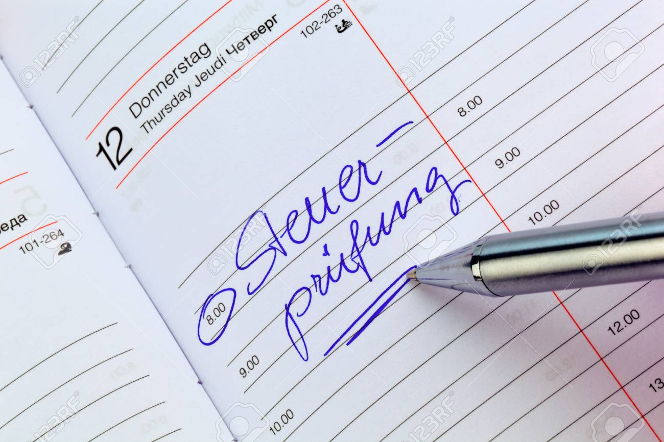 a date is entered in a calendar  tax audit Stock Photo - 15734001