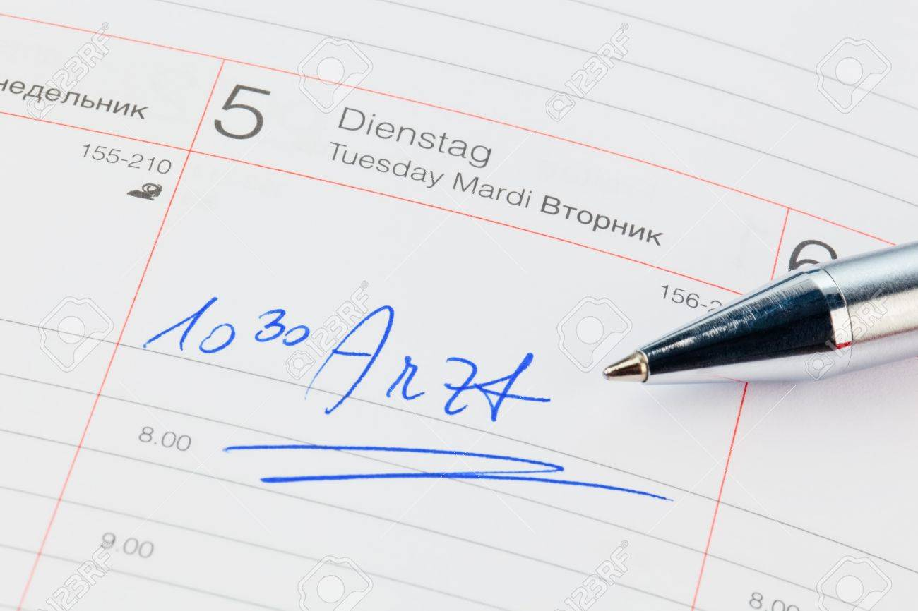 a date is entered in a calendar  doctor Stock Photo - 17633676