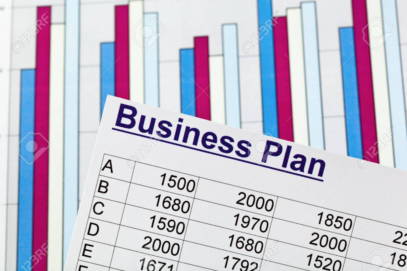 a business plan for starting a business  ideas and strategies for self-employment Stock Photo - 17633906