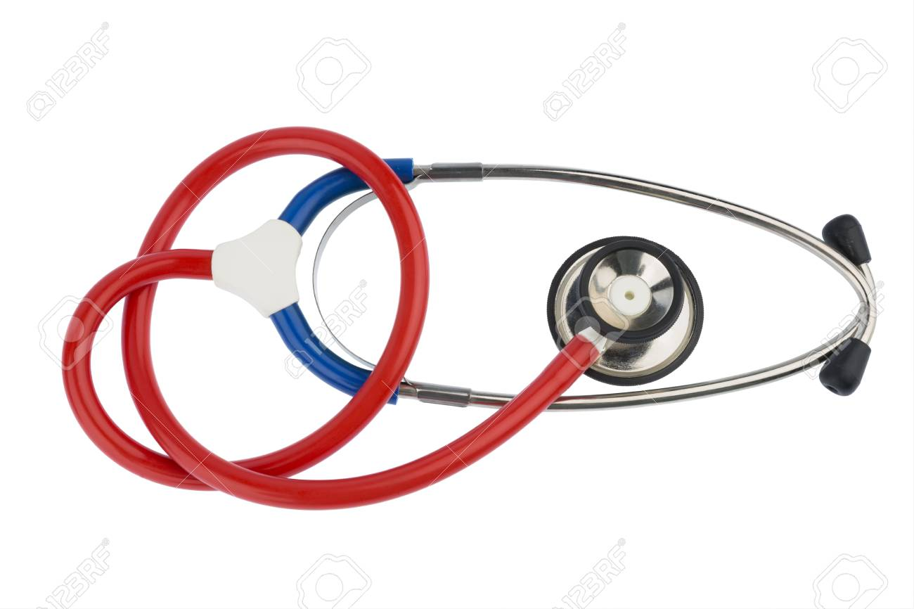 Stethoscope On A White Background Symbol Photo For The Medical