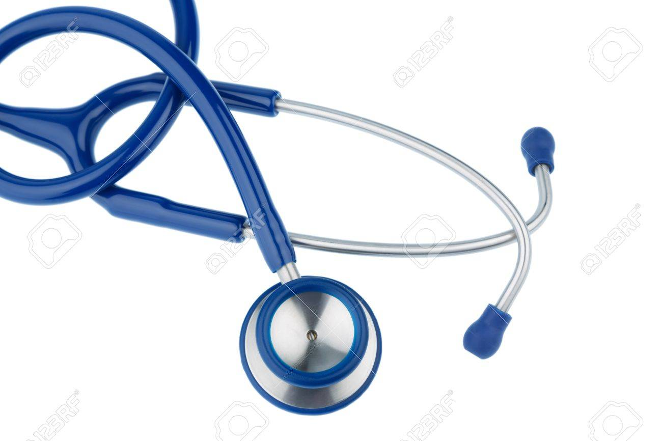 Stethoscope Against White Symbol Photo For The Medical Profession