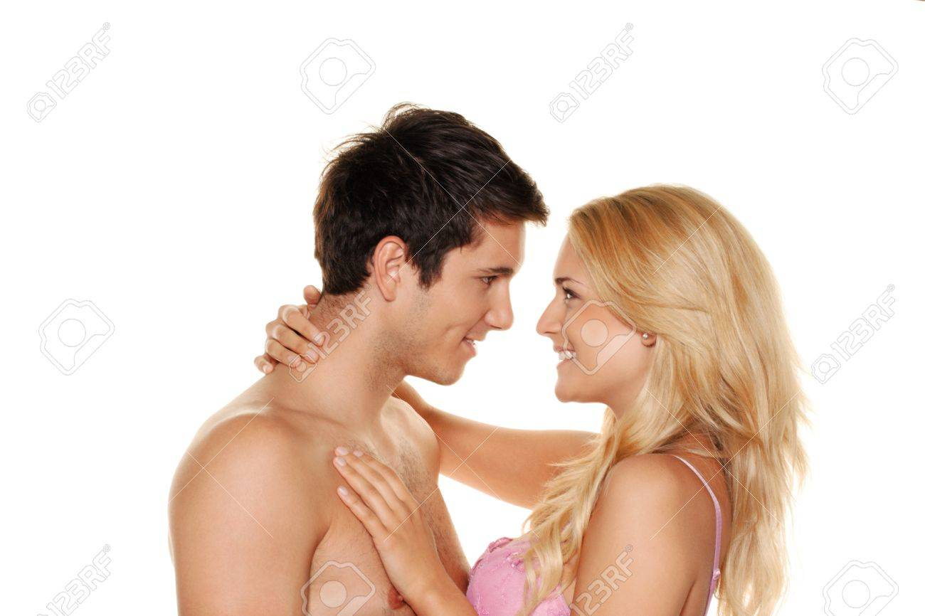 couple has fun and joy  love, eroticism and tenderness in everyday life Stock Photo - 26509159
