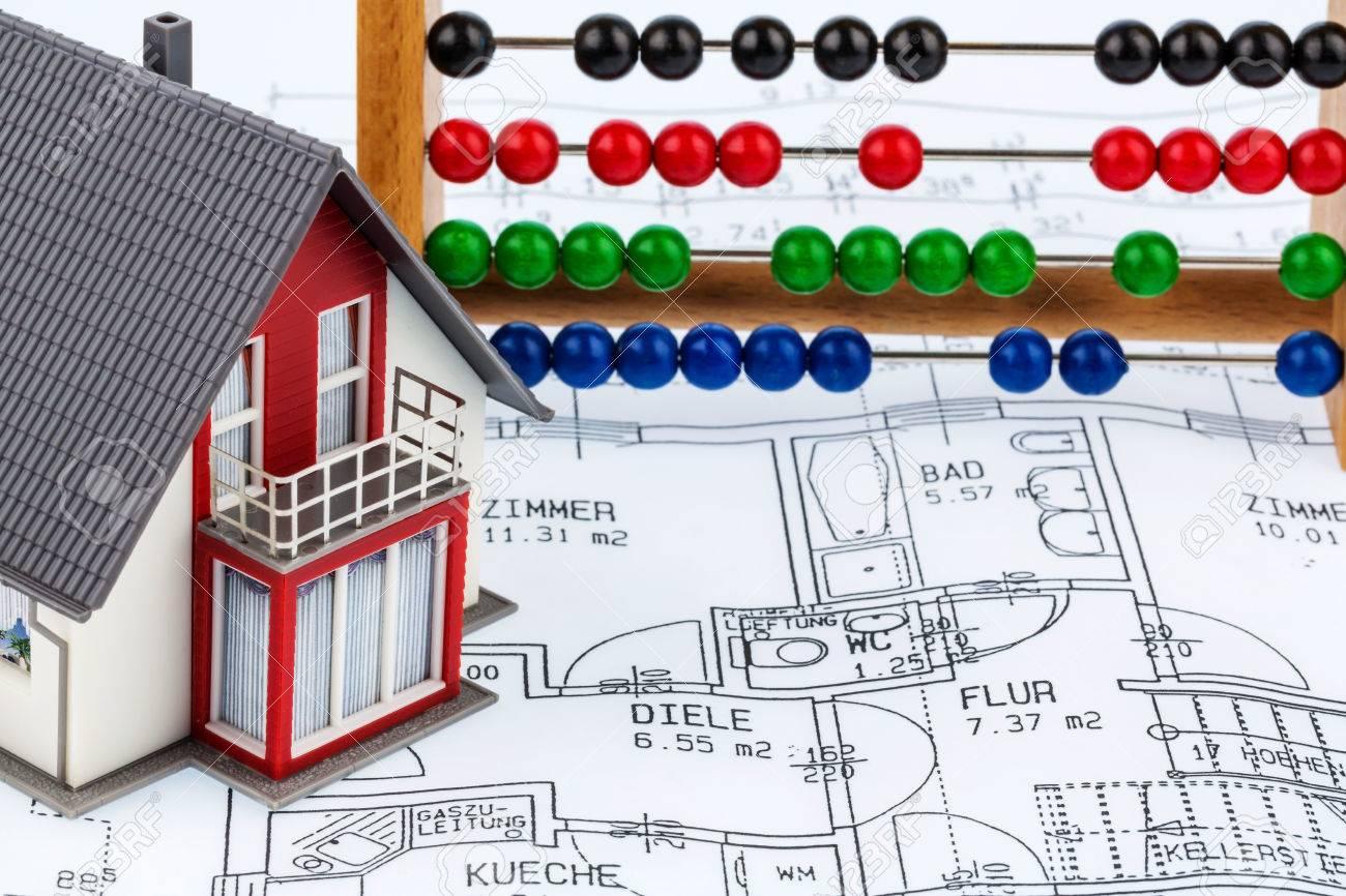 Haus Abakus Planen Symbol Foto Fur Den Hausbau Finanzierung