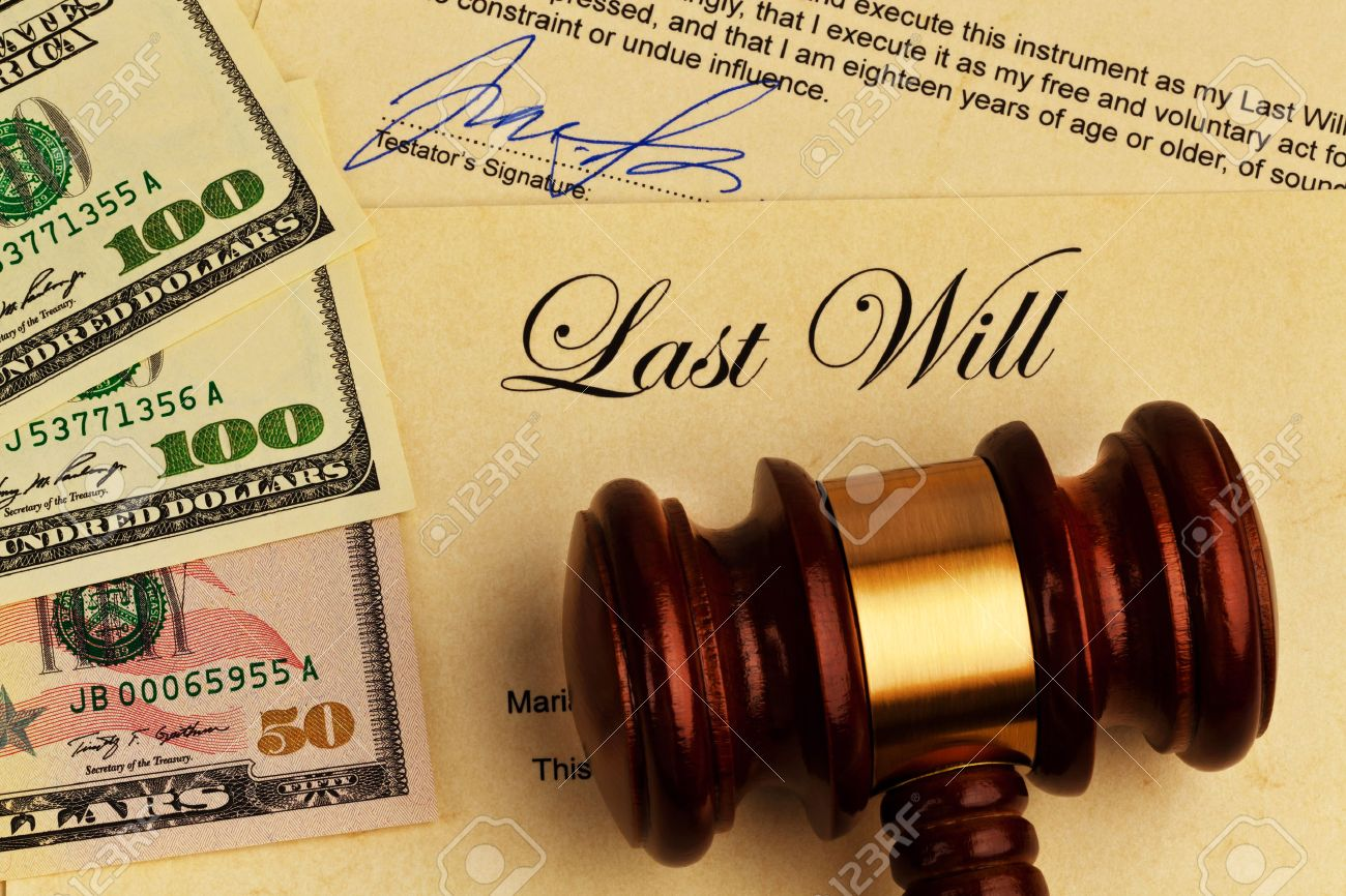 The Testament Of A Deceased Person In English Last Will And