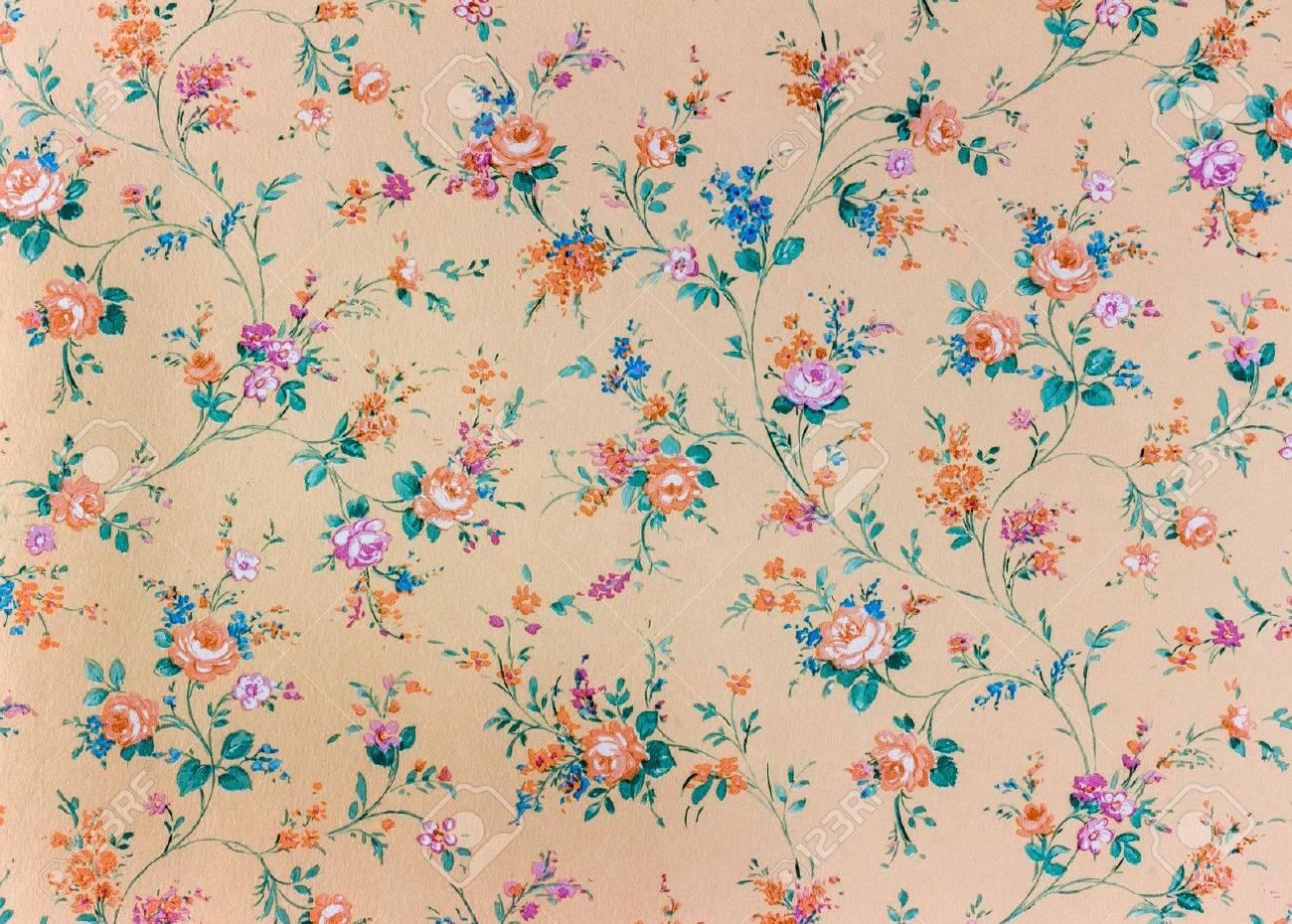 花柄の古いレトロな壁紙 の写真素材 画像素材 Image 30263292