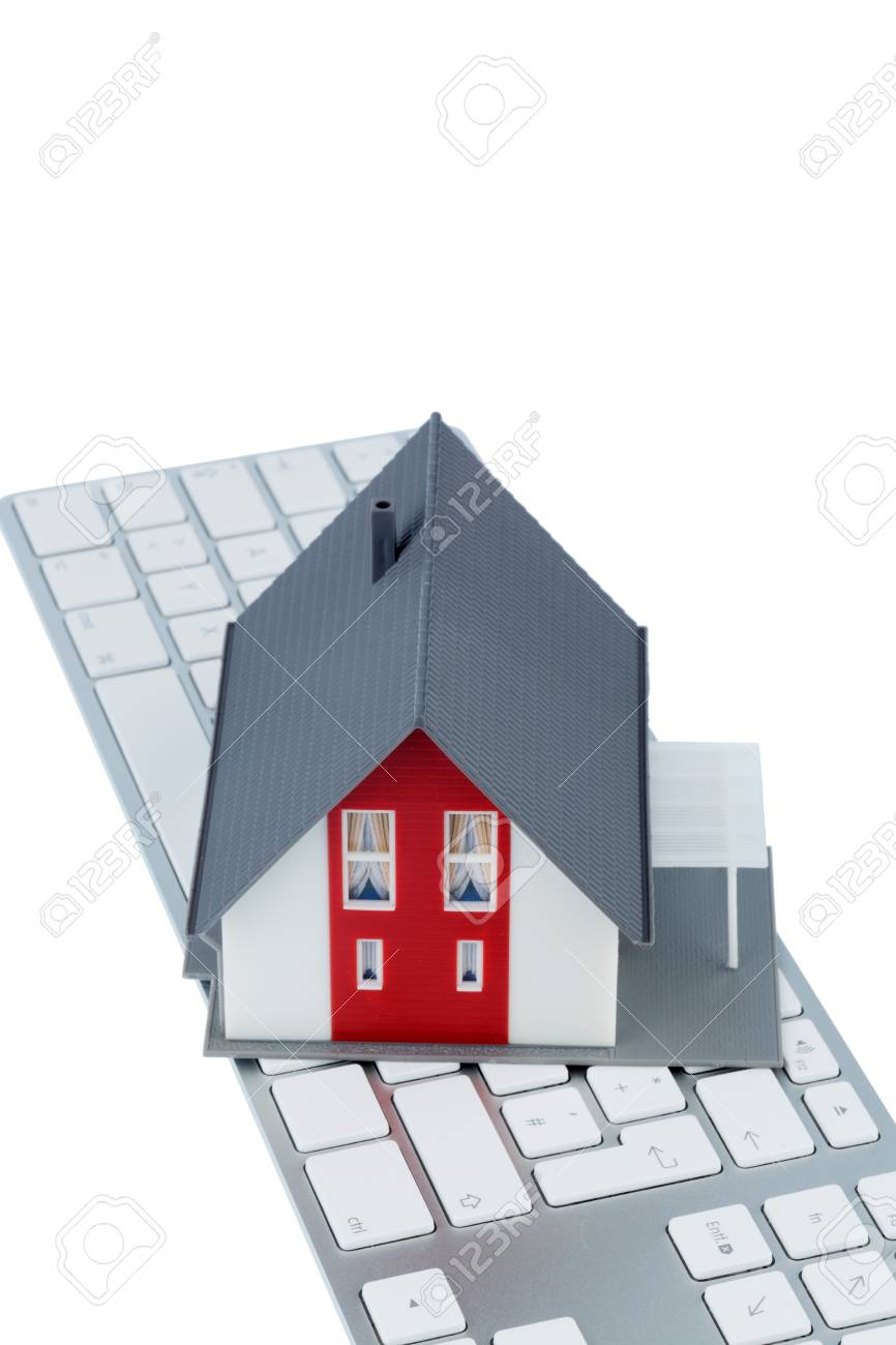 House On Keyboard Symbol Photo For Home Purchase And Rental On