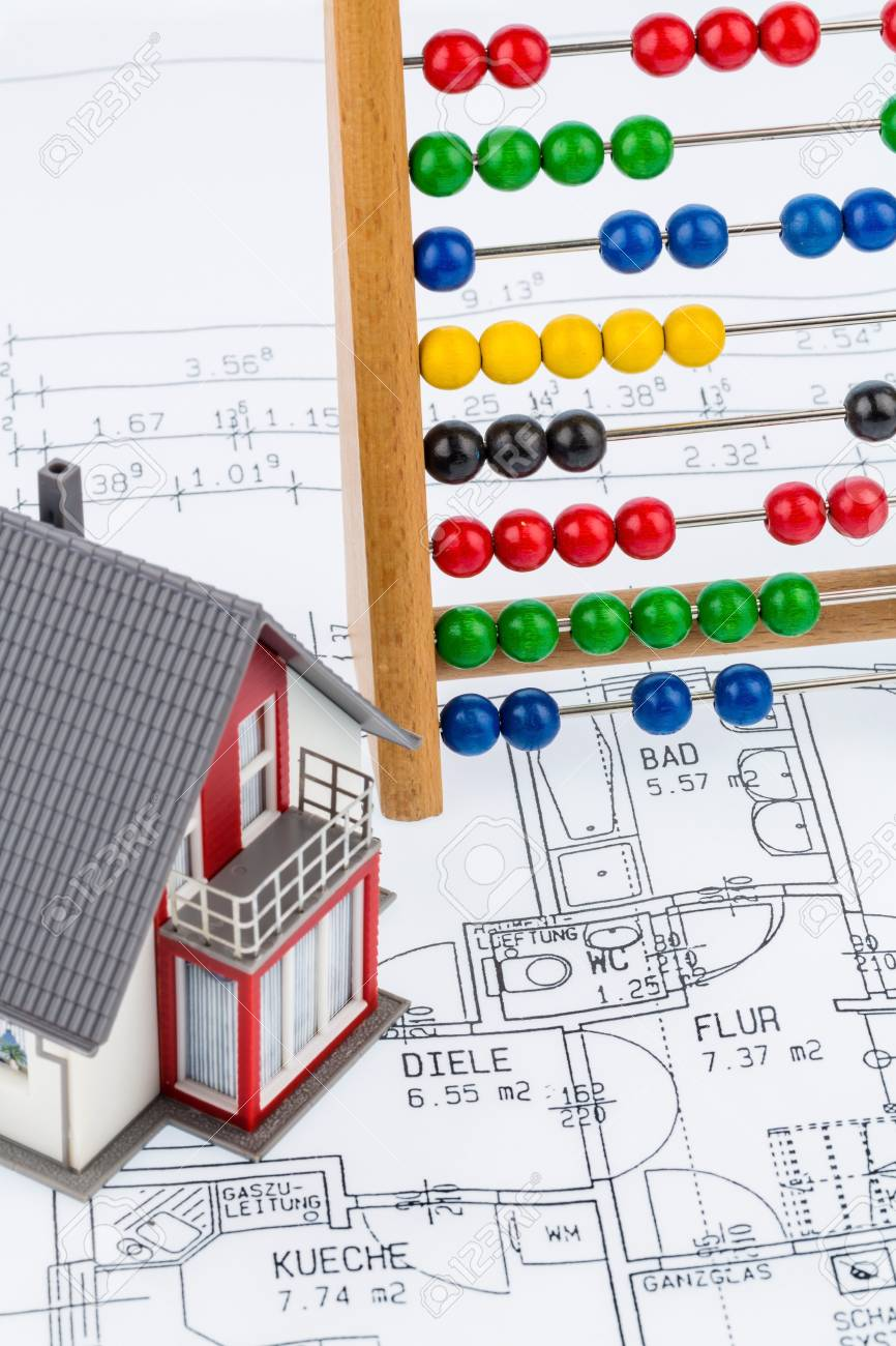 Haus Abakus Planen Symbolfoto Fur Den Hausbau Finanzierung