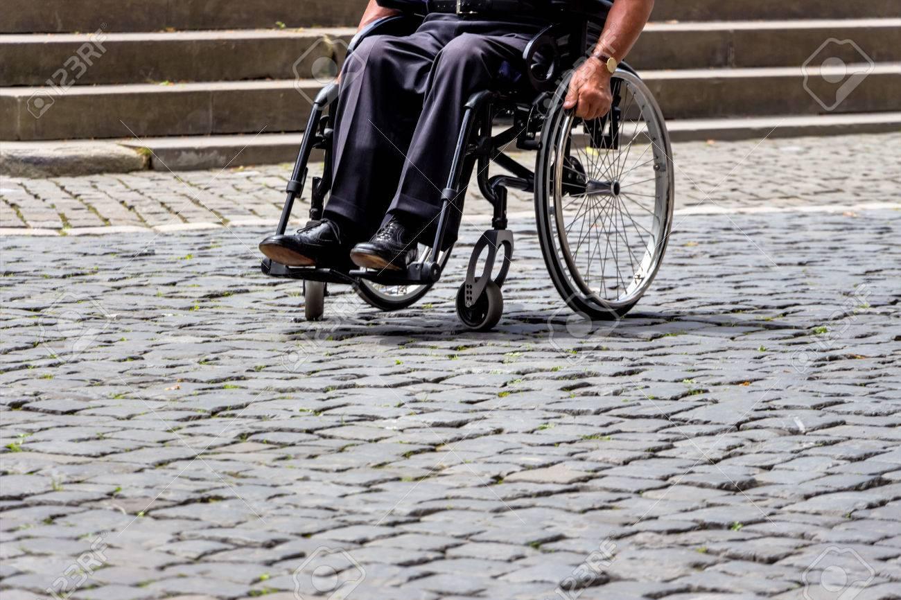 Switzerland Zurich Man In A Wheelchair Symbol Of Disability