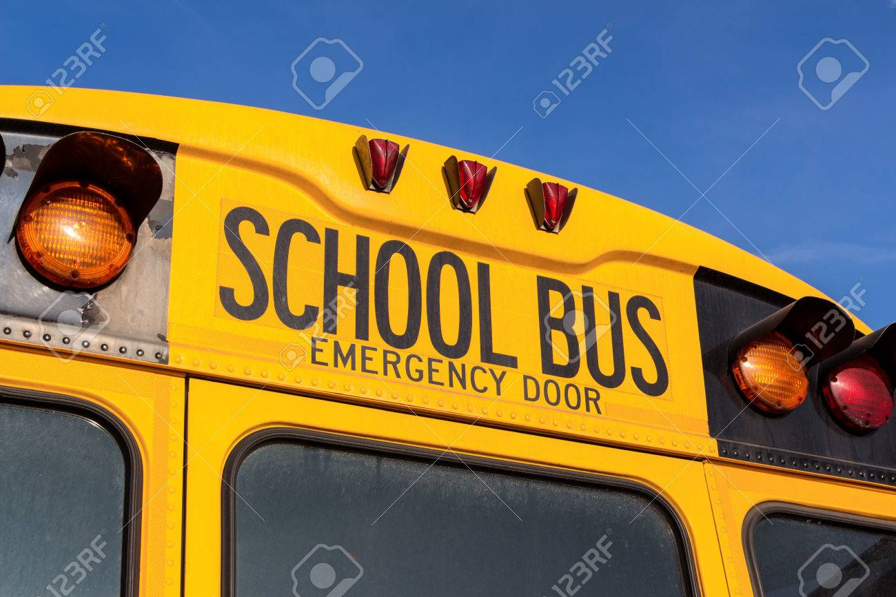 a typical american school bus yellow Stock Photo - 39709103