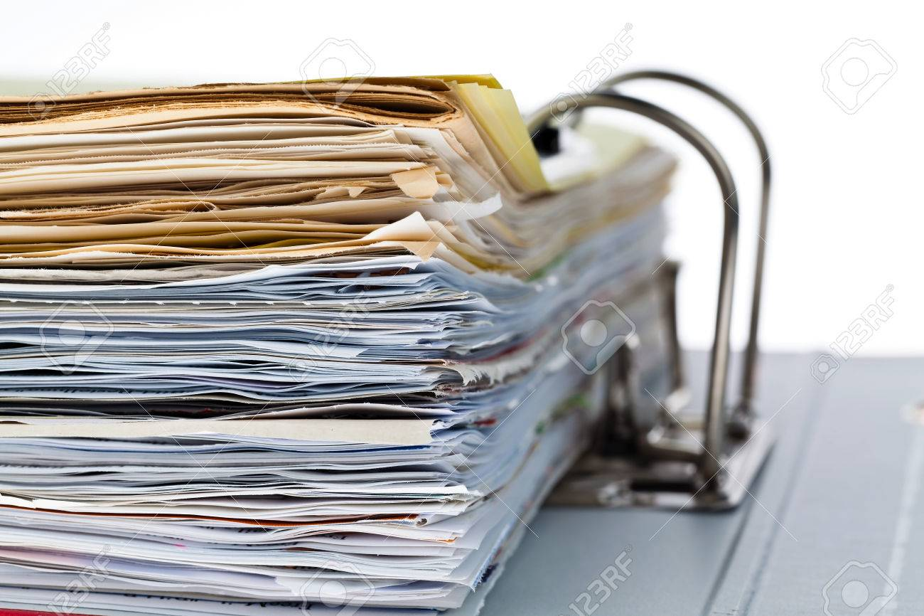 a file folder with documents and documents. storage contracts. Stock Photo - 39798668