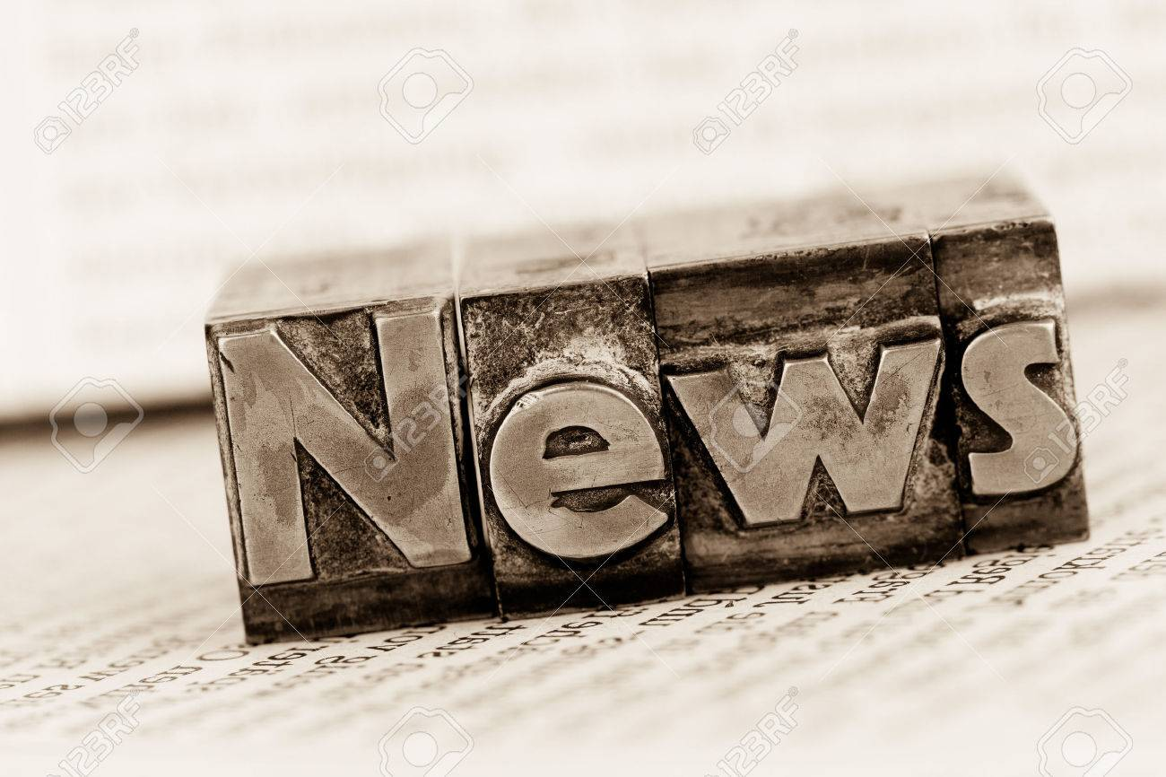 the word news written with lead letters. symbolic photo for newsletters, newspapers and information Stock Photo - 40083113