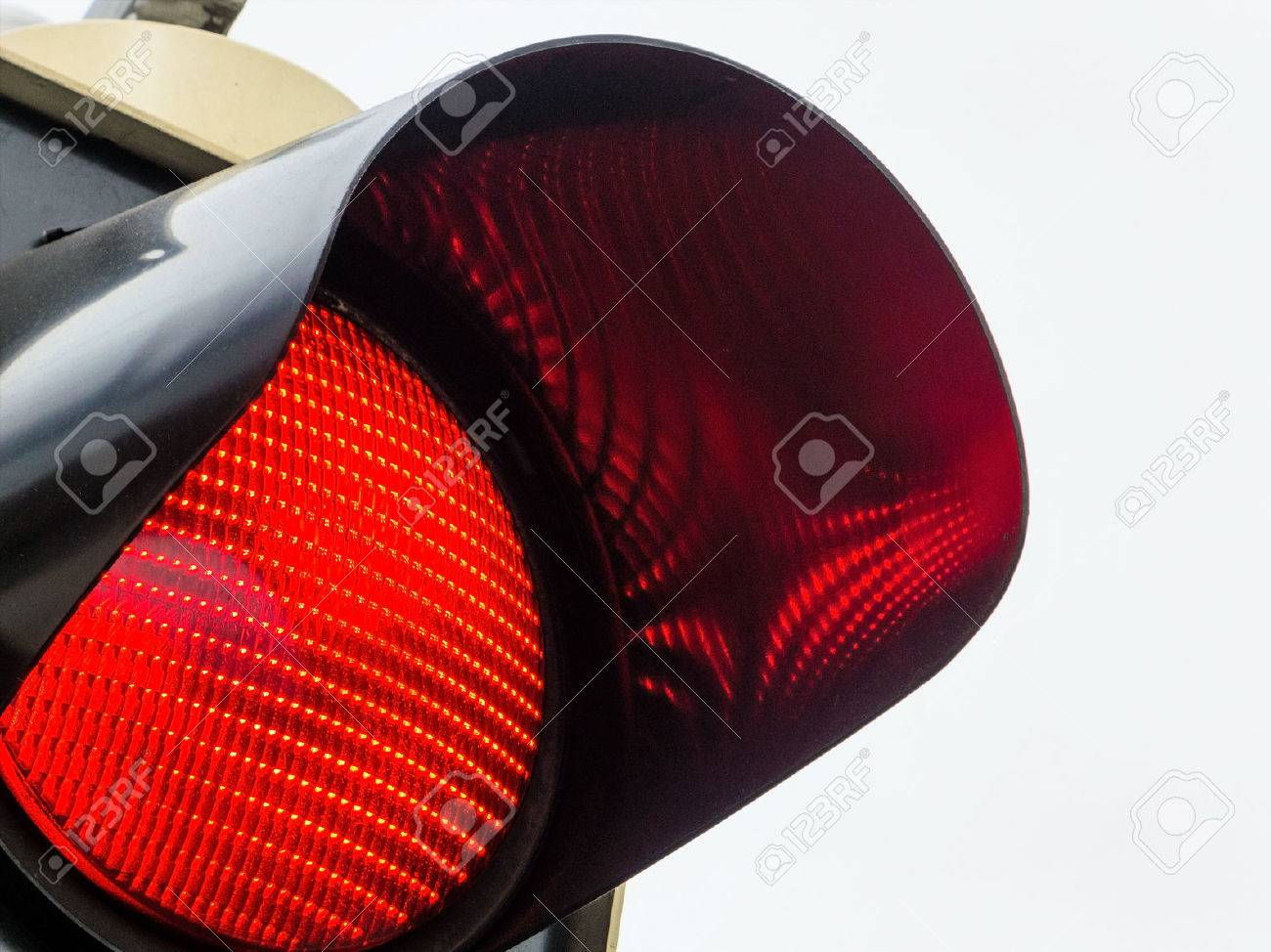 a traffic light shows red light. symbolic photo for maintenance, exit and risk. Stock Photo - 44801062