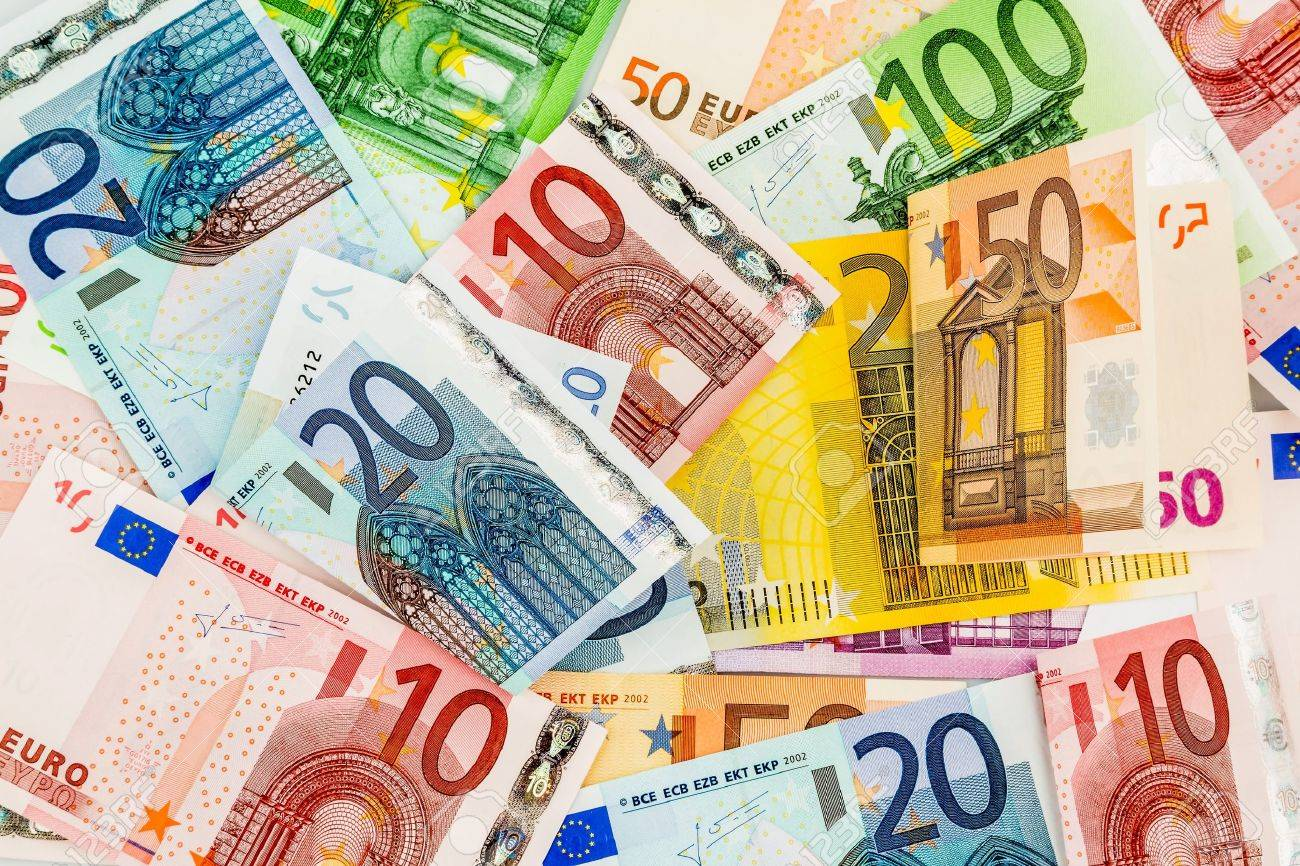 many different euro bills. symbolic photo for wealth and investment. Stock Photo - 45505531