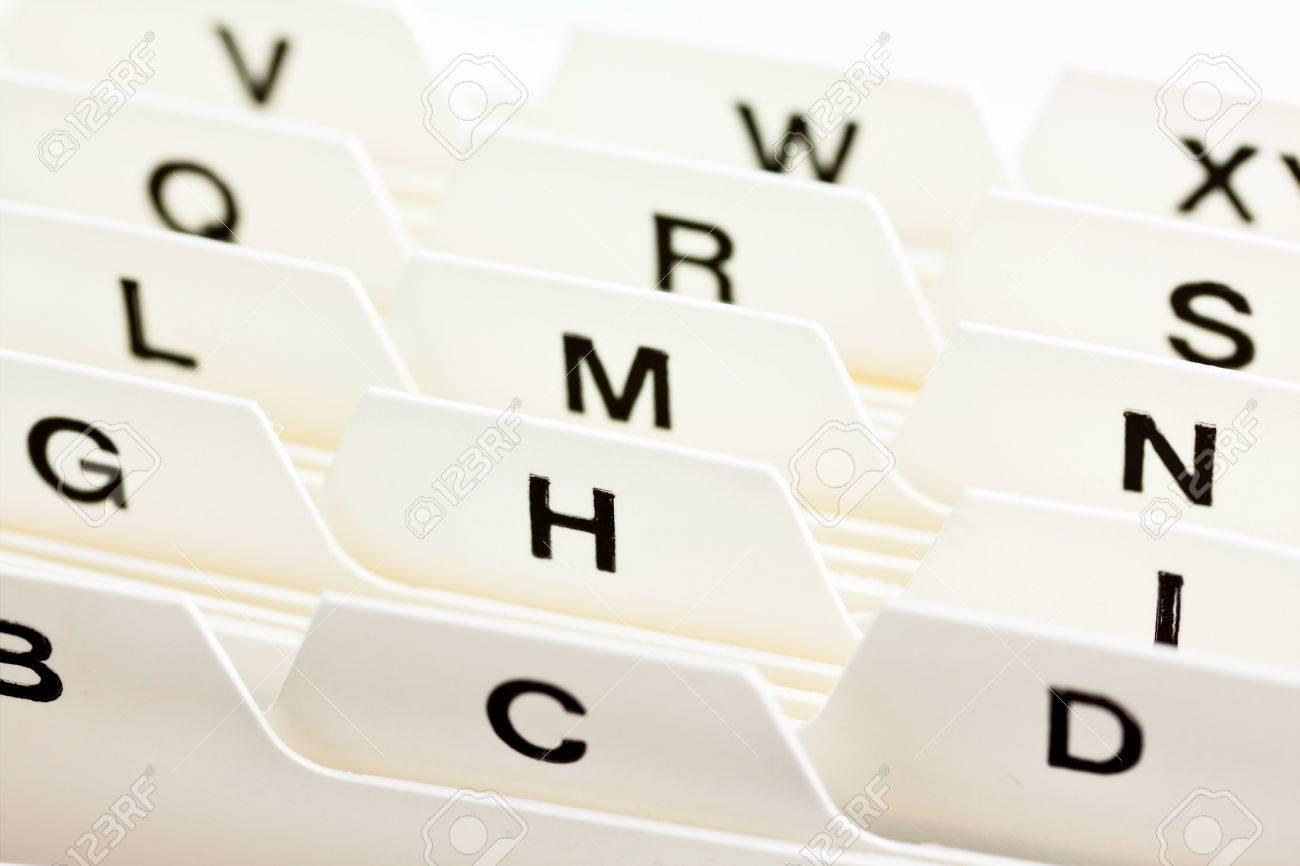 Ndice Alfabético Para Ordenar Tarjetas. Direcciones De Los Clientes ...
