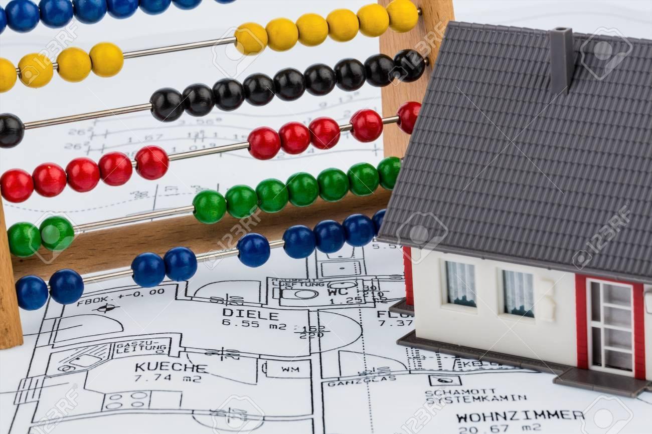 Haus Abakus Plan Symbol Foto Fur Den Hausbau Finanzierung