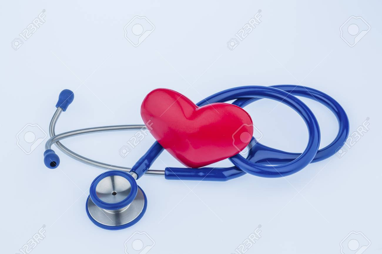 A Heart And A Stethoscope Are Adjacent Symbol Photo For Heart