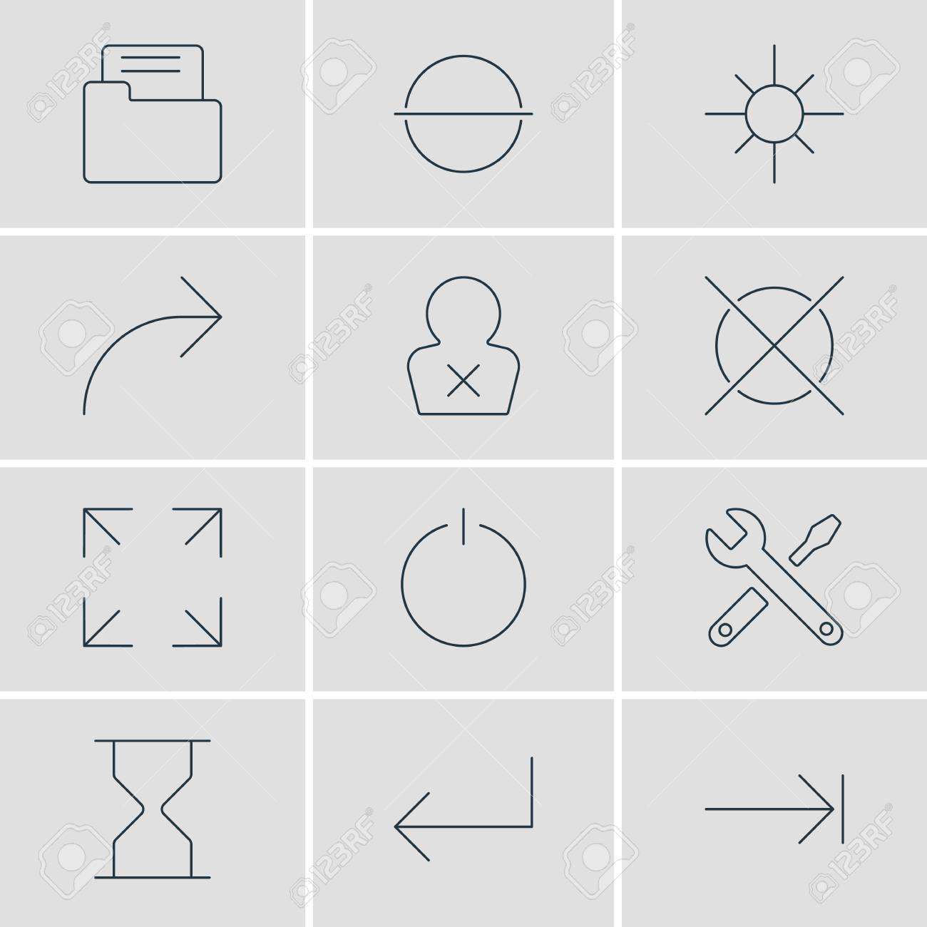 Vector Illustration Of 12 Interface Icons  Editable Pack Of Switch