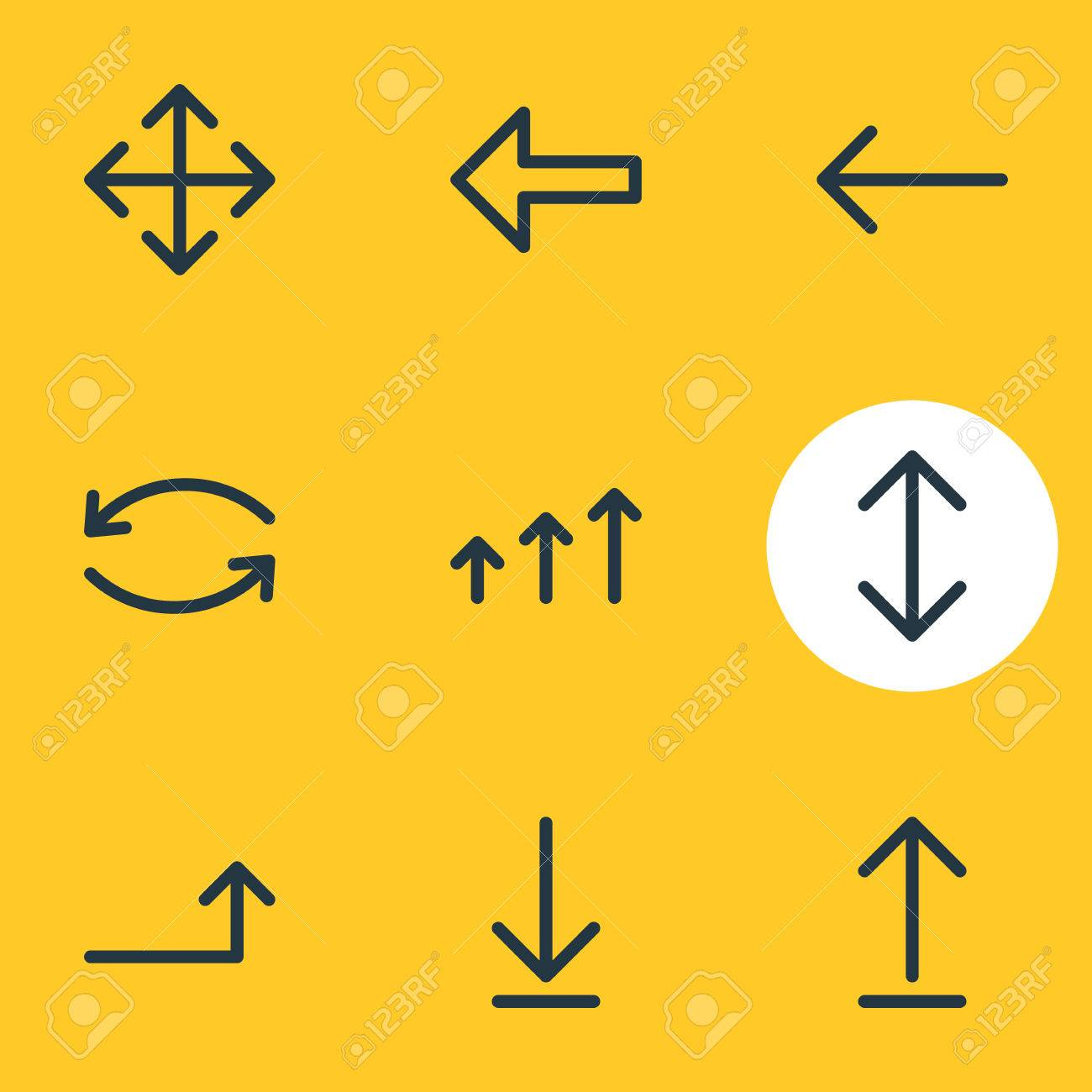 Vector Illustration Of 9 Sign Icons Editable Pack Of Increase